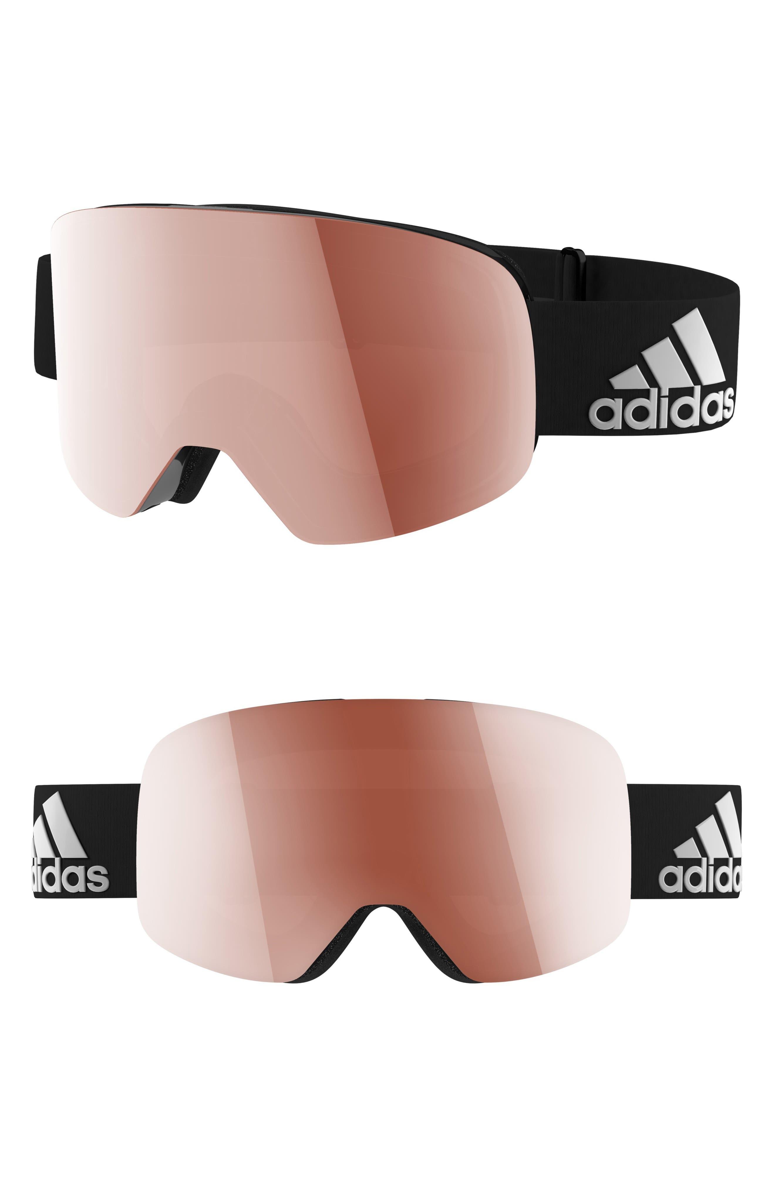 Backland Spherical Snowsports Goggles,                             Main thumbnail 1, color,                             SHINY BLACK/ ACTIVE SILVER