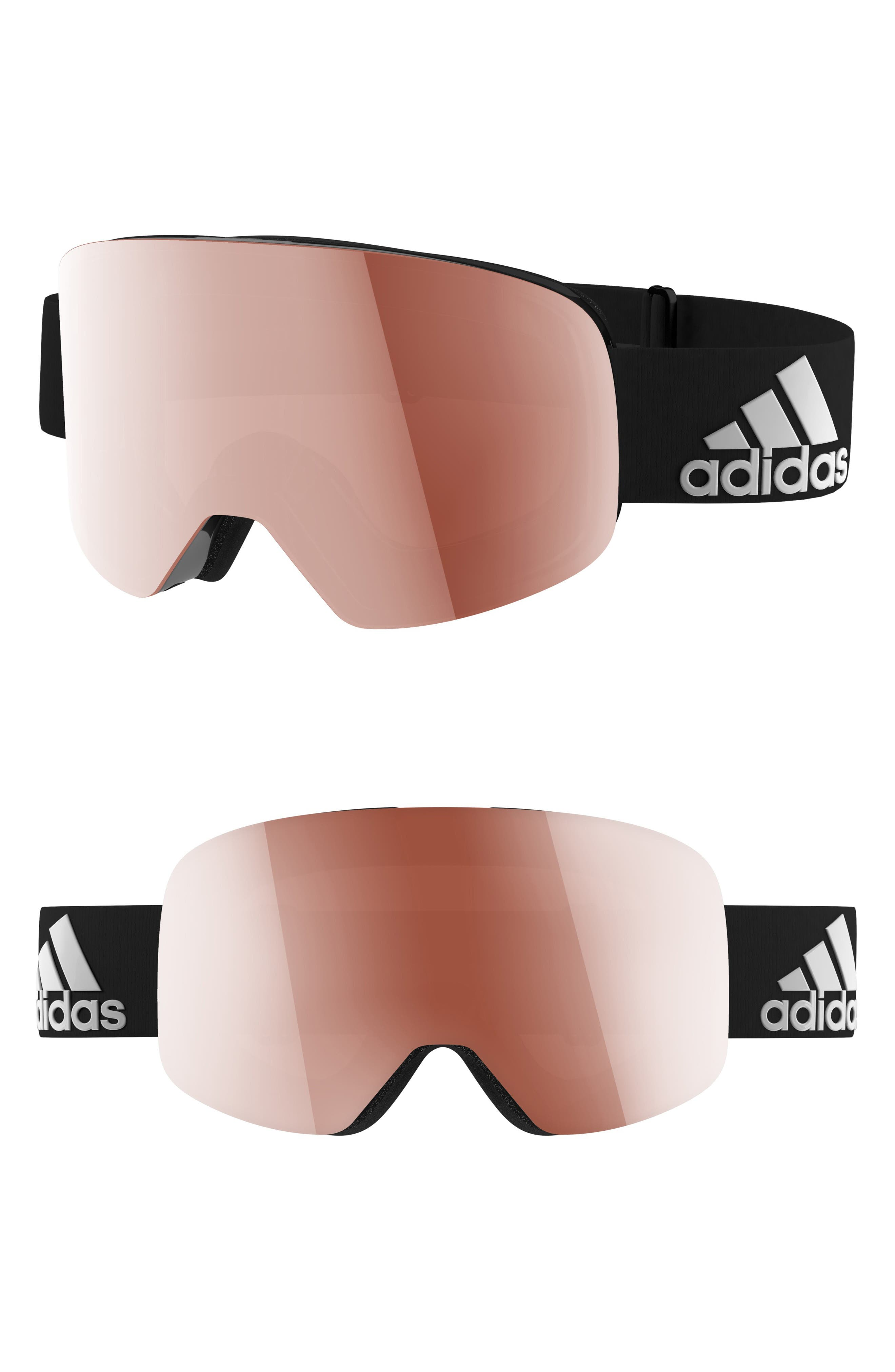 Backland Spherical Snowsports Goggles,                         Main,                         color, SHINY BLACK/ ACTIVE SILVER