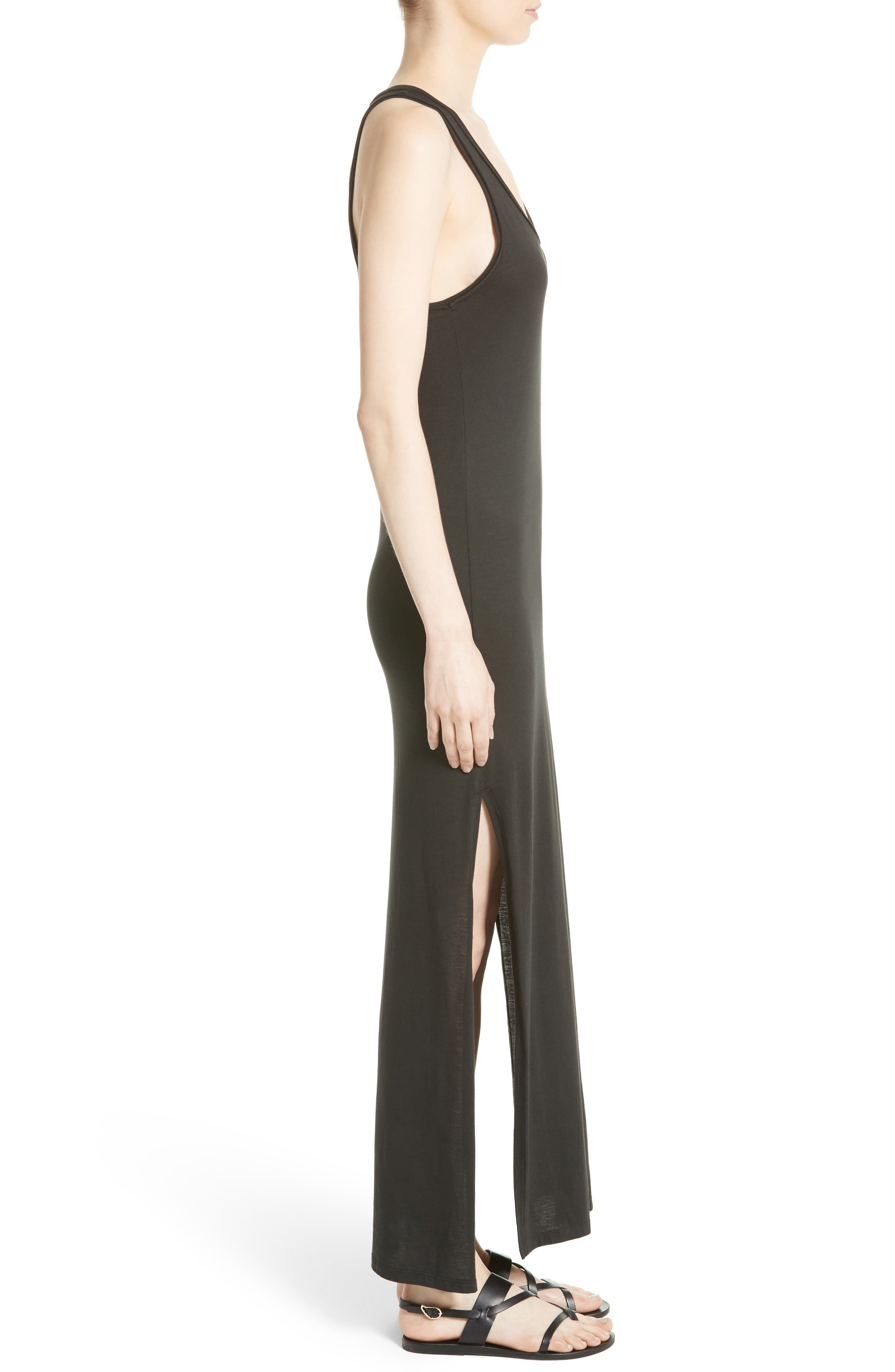 Sameetha Plume Jersey Maxi Dress,                             Alternate thumbnail 3, color,                             001