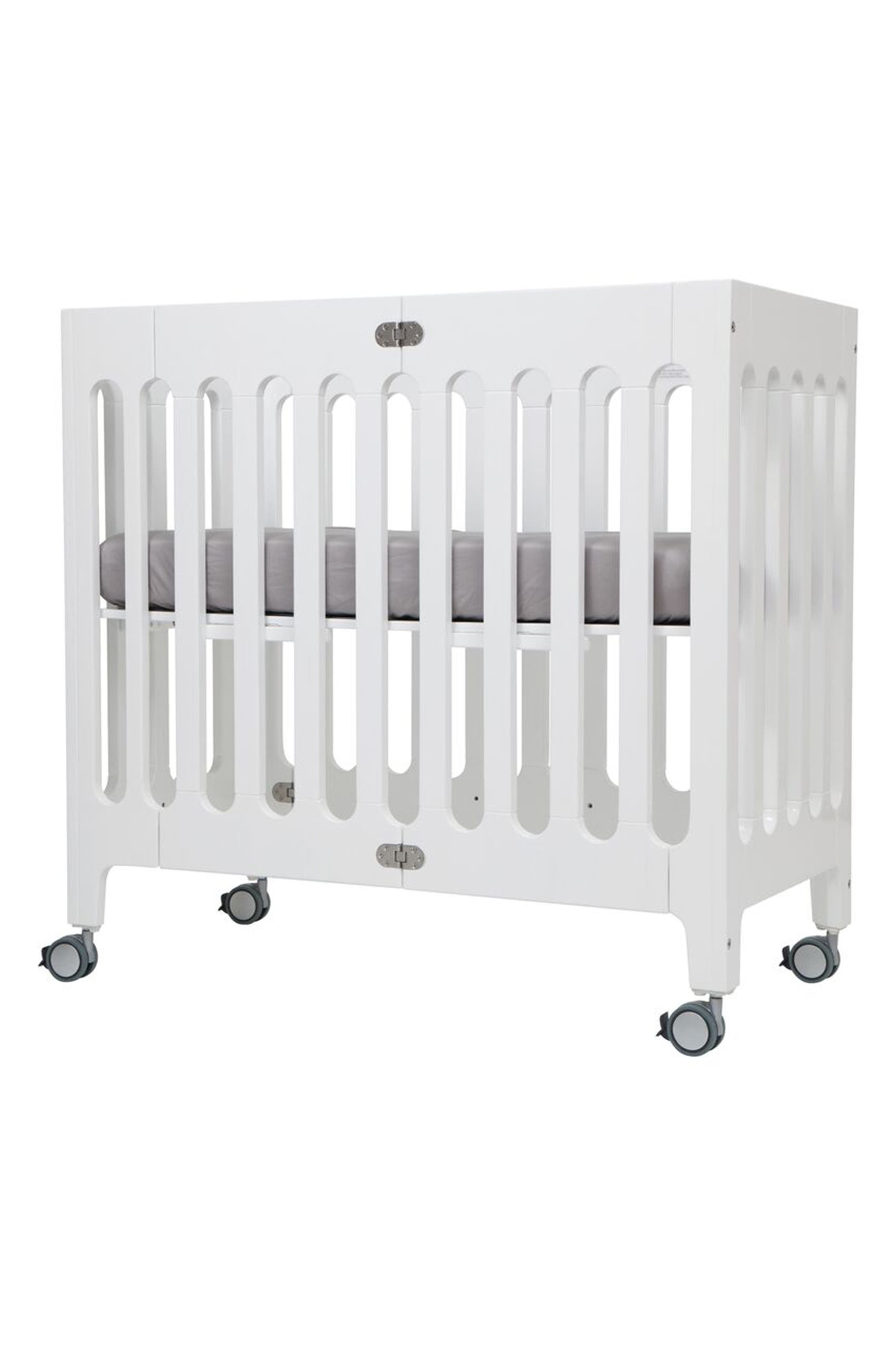 Baby Alma Urban Mini Solid Wood Crib,                             Alternate thumbnail 2, color,                             COCONUT WHITE