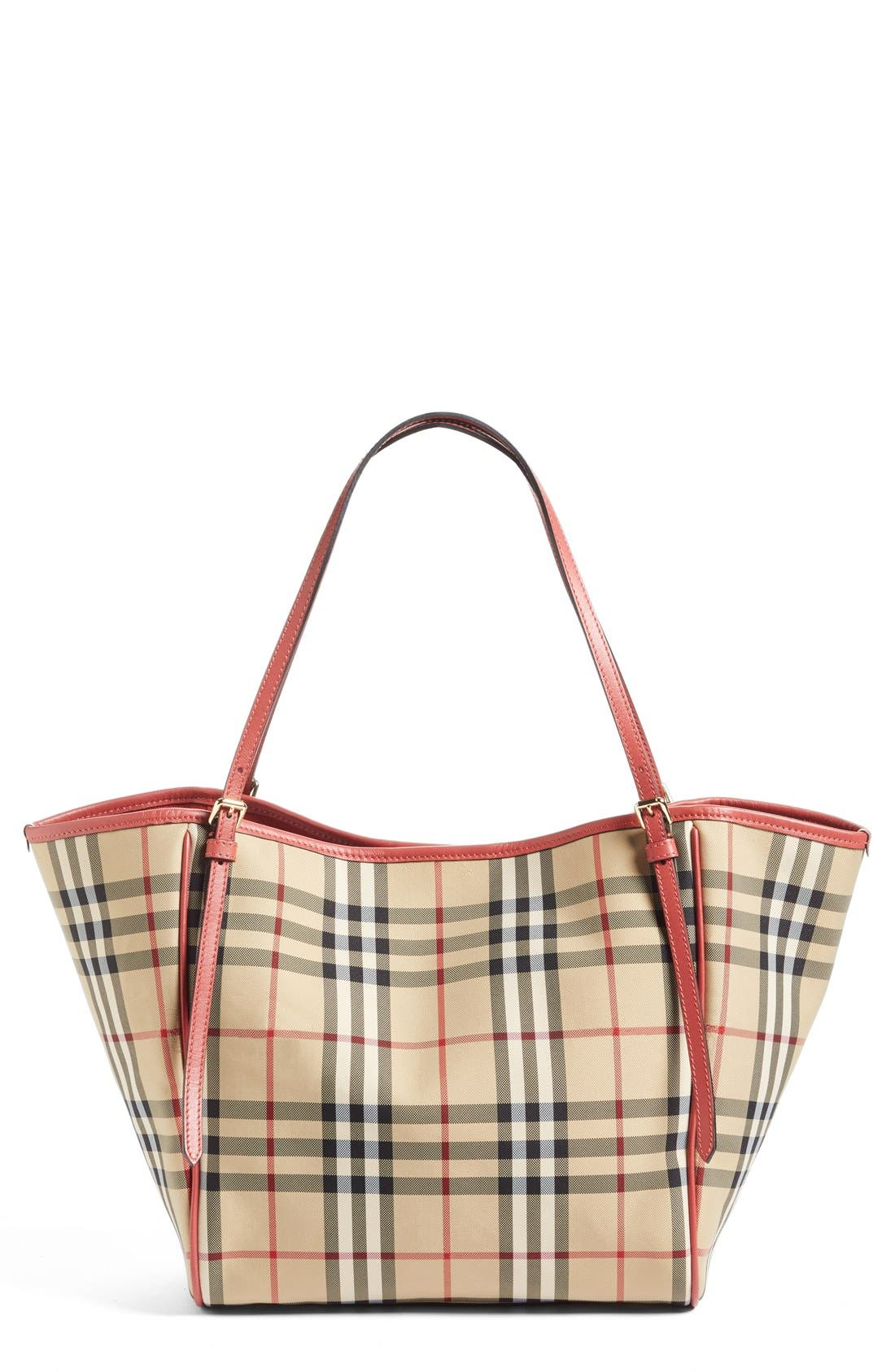 Small Canter Horseferry Check Tote,                             Main thumbnail 1, color,
