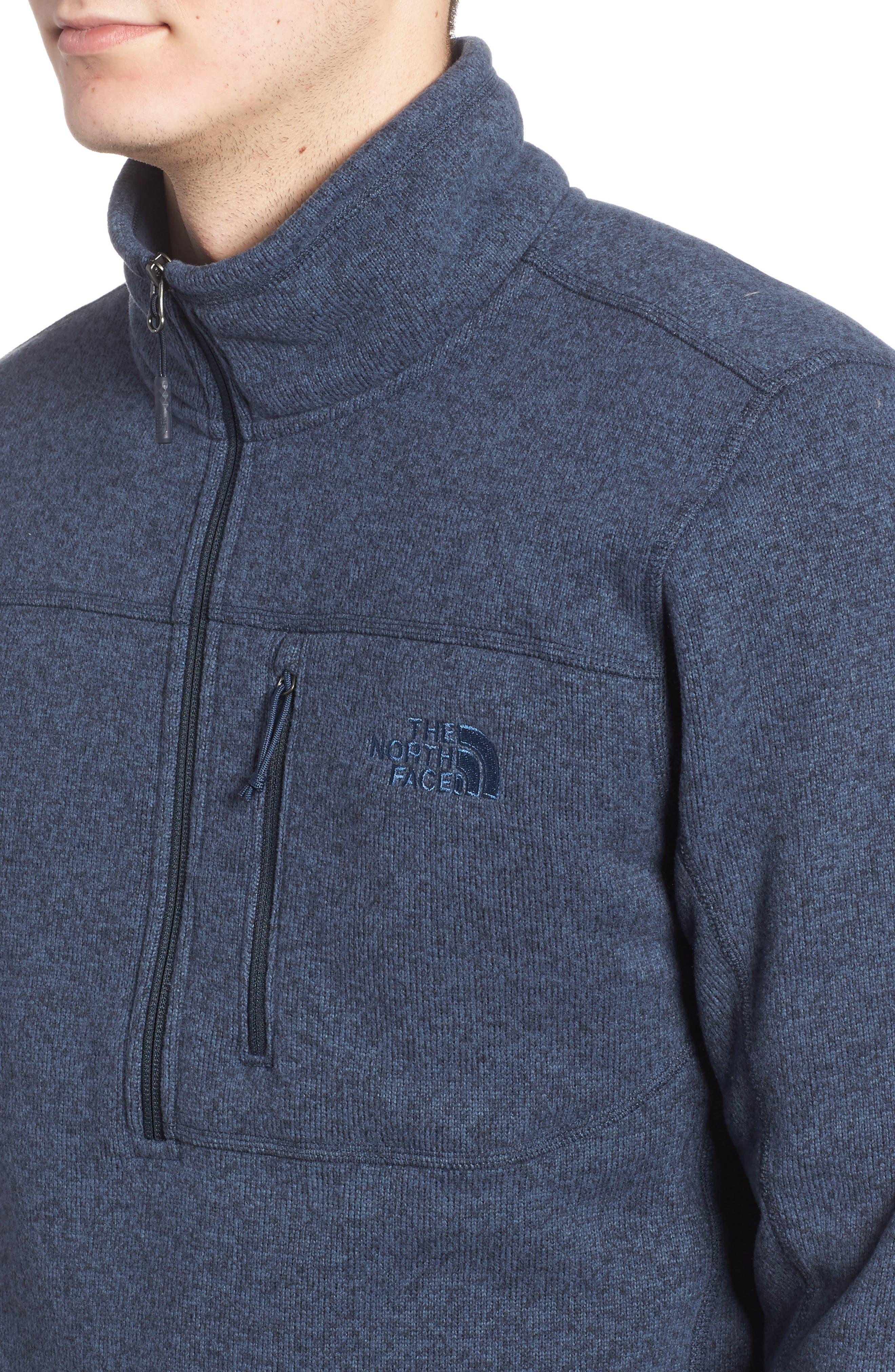 Gordon Lyons Quarter-Zip Fleece Jacket,                             Alternate thumbnail 4, color,                             URBAN NAVY HEATHER