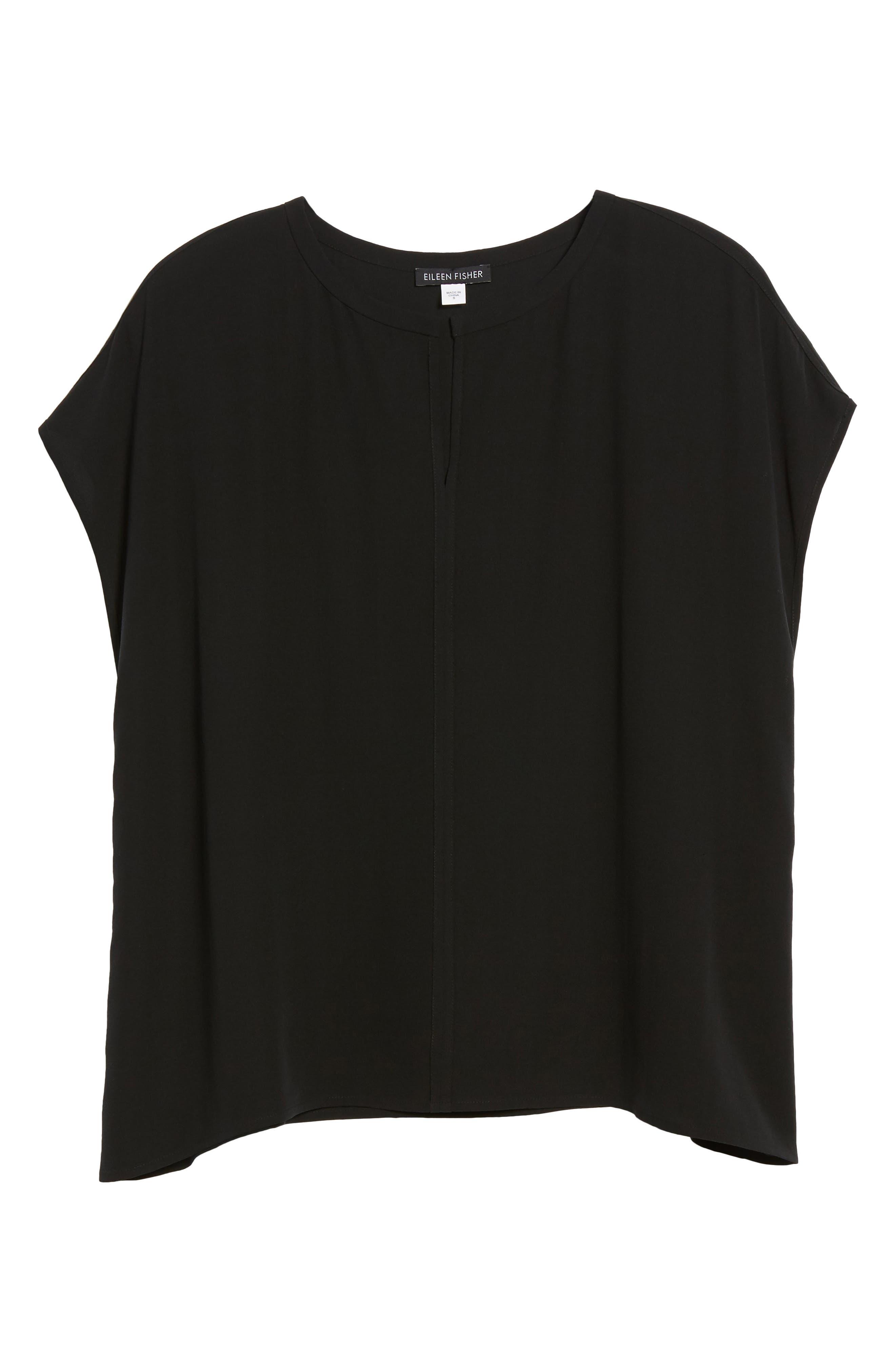 Split Neck Silk Shirt,                             Alternate thumbnail 17, color,