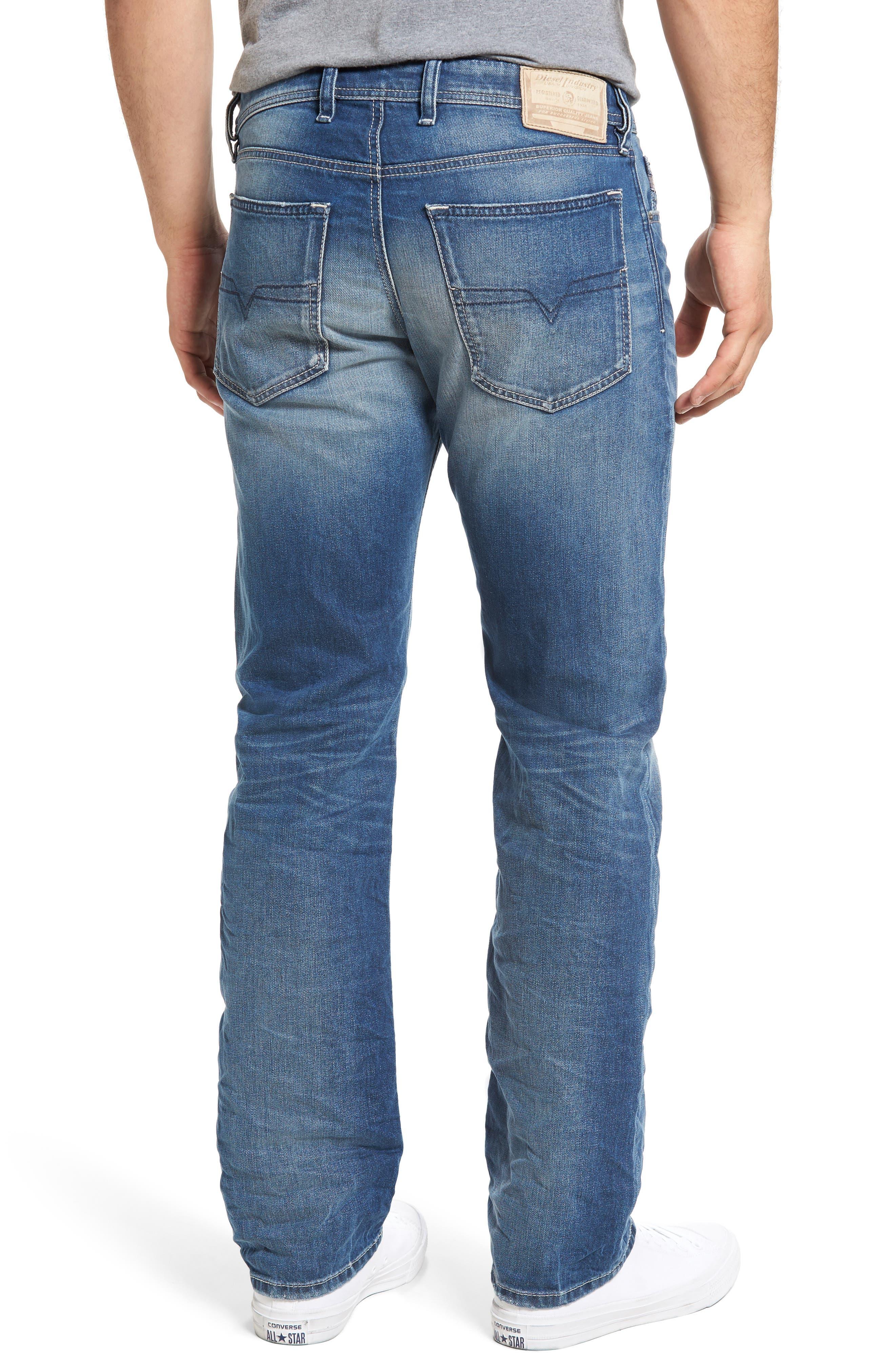 Waykee Straight Leg Jeans,                             Alternate thumbnail 2, color,                             400