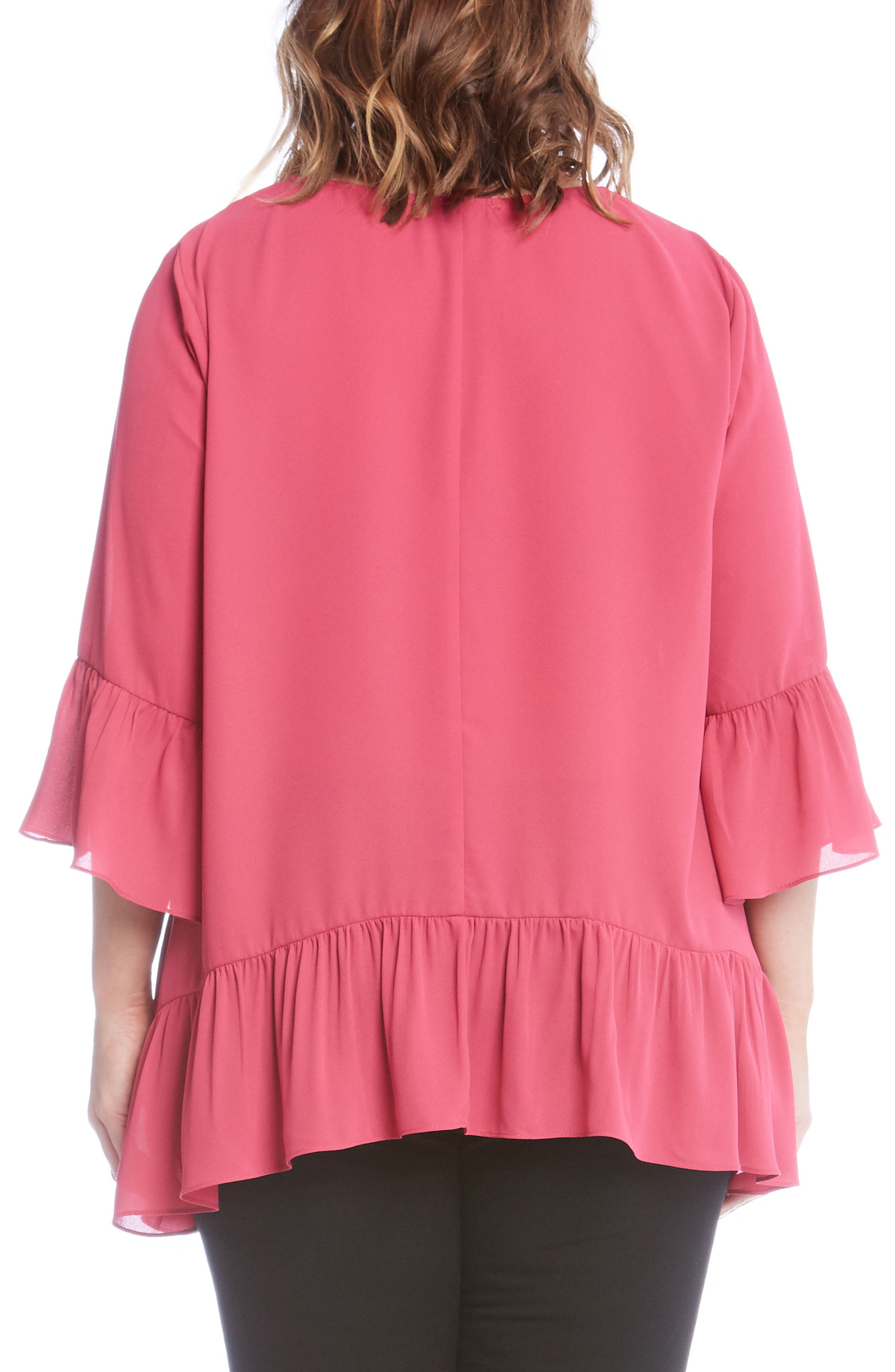 Ruffle Hem Top,                             Alternate thumbnail 6, color,