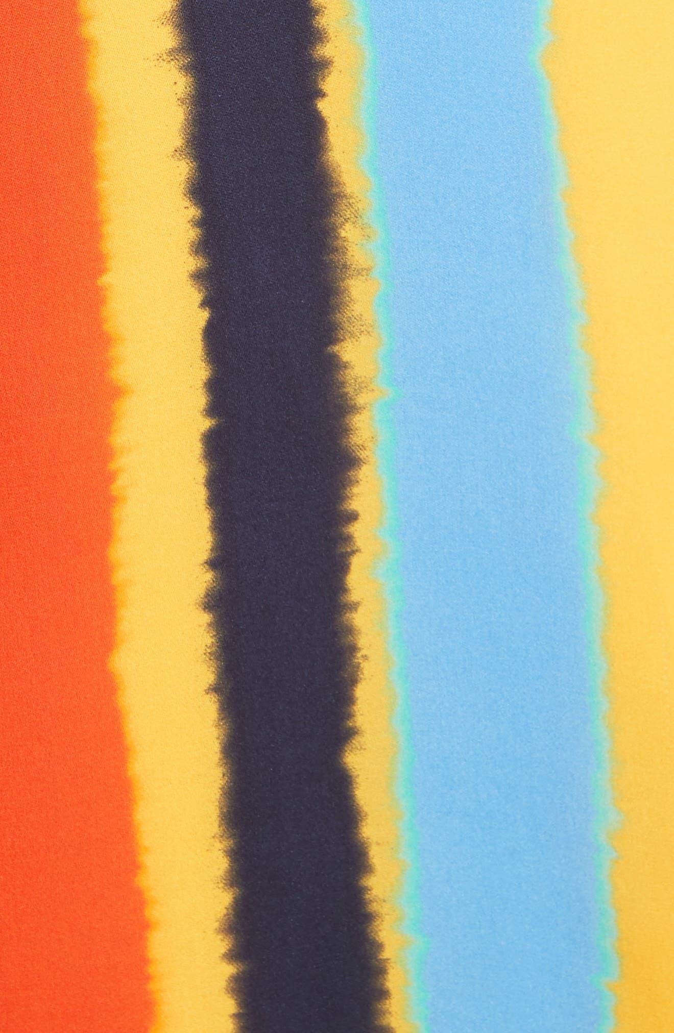 Bettina Stripe Silk Wrap Dress,                             Alternate thumbnail 5, color,                             108