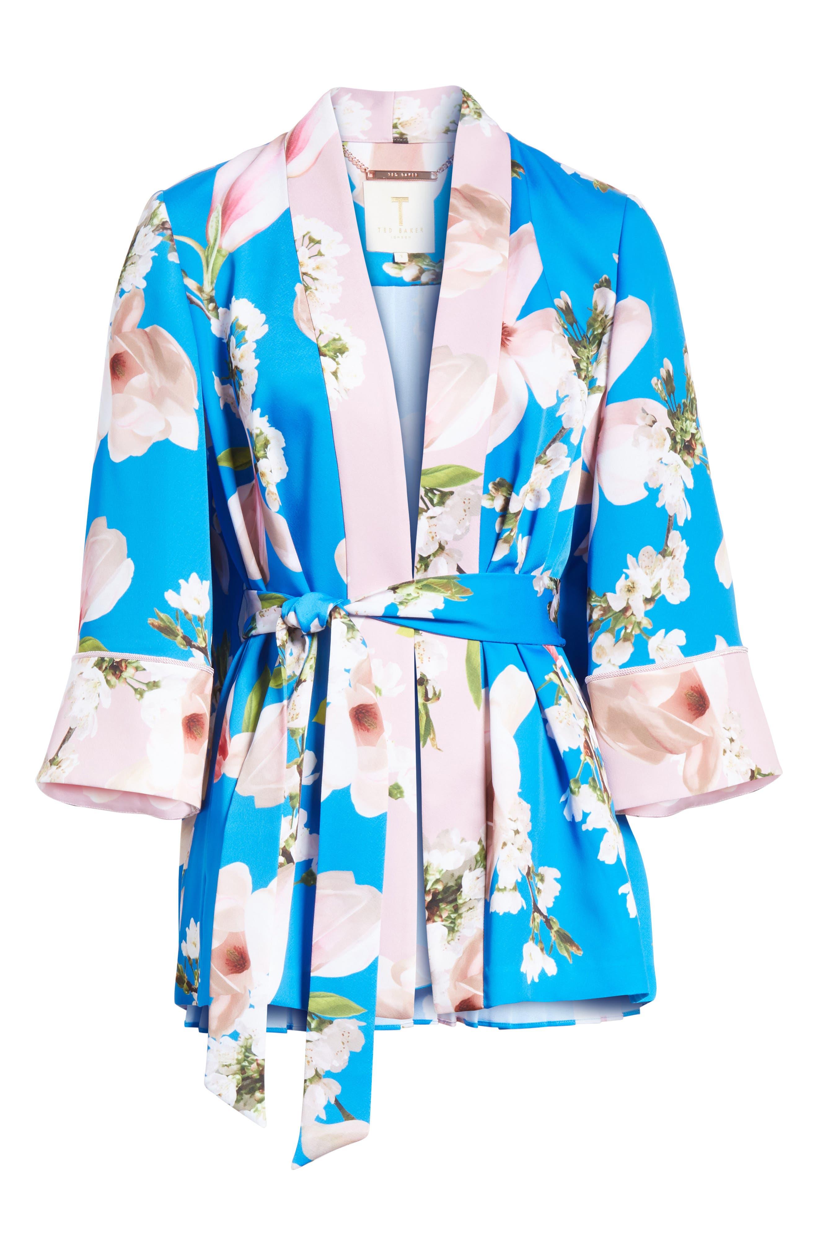 Harmony Pleat Back Kimono Jacket,                             Alternate thumbnail 5, color,                             430