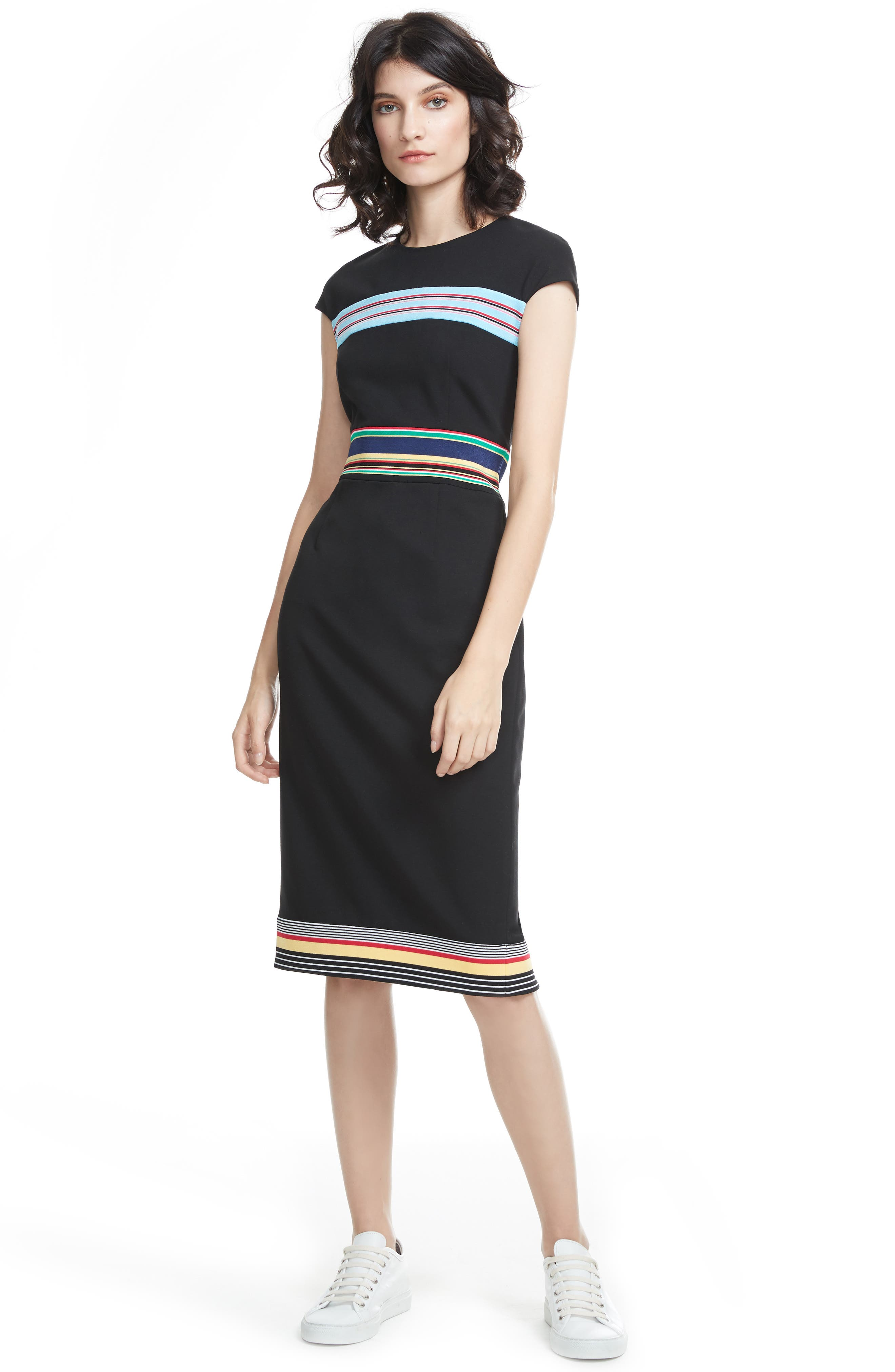 Hadlie Sheath Dress,                             Alternate thumbnail 2, color,                             001