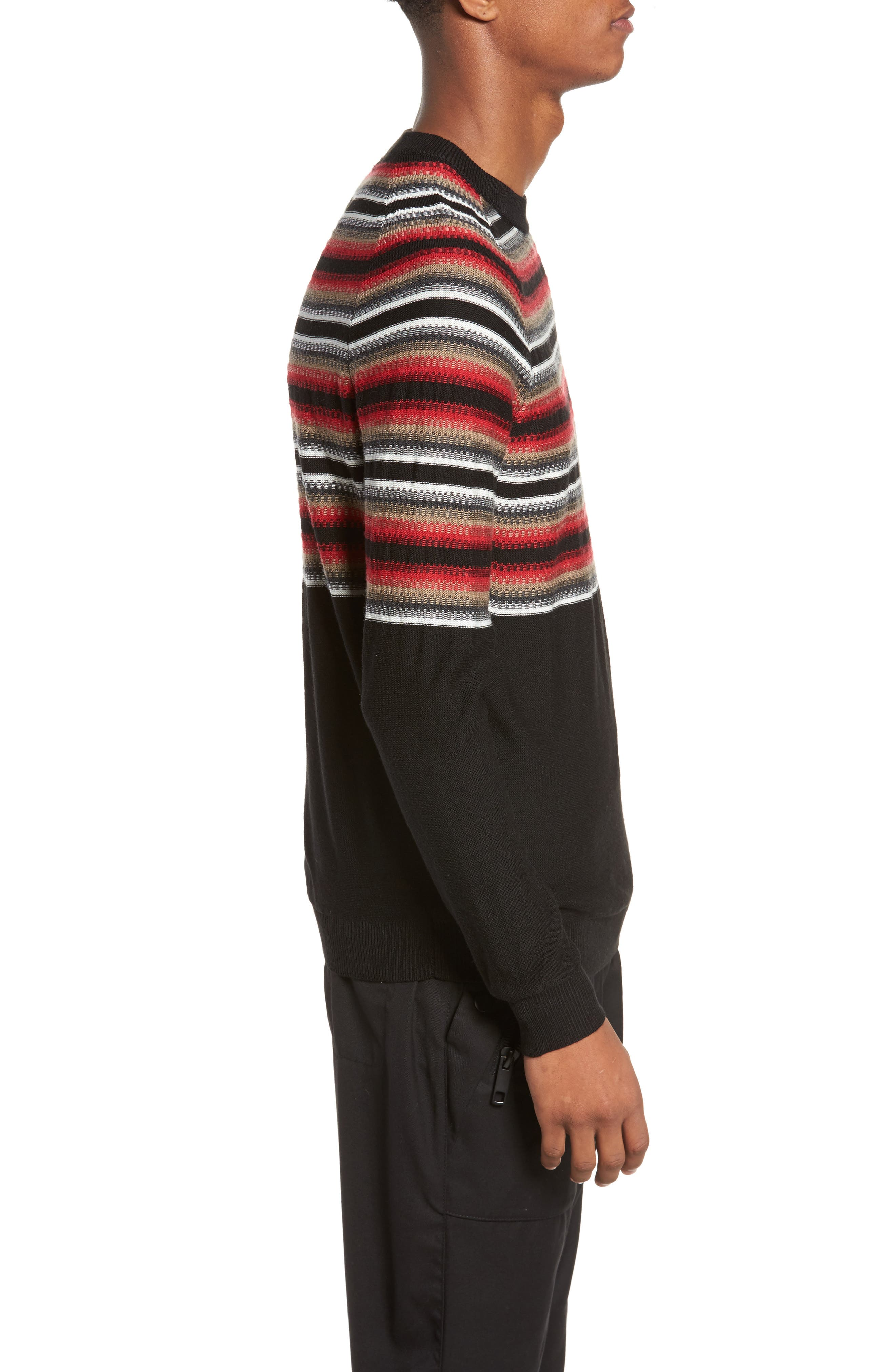 Stripe Sweater,                             Alternate thumbnail 3, color,                             001