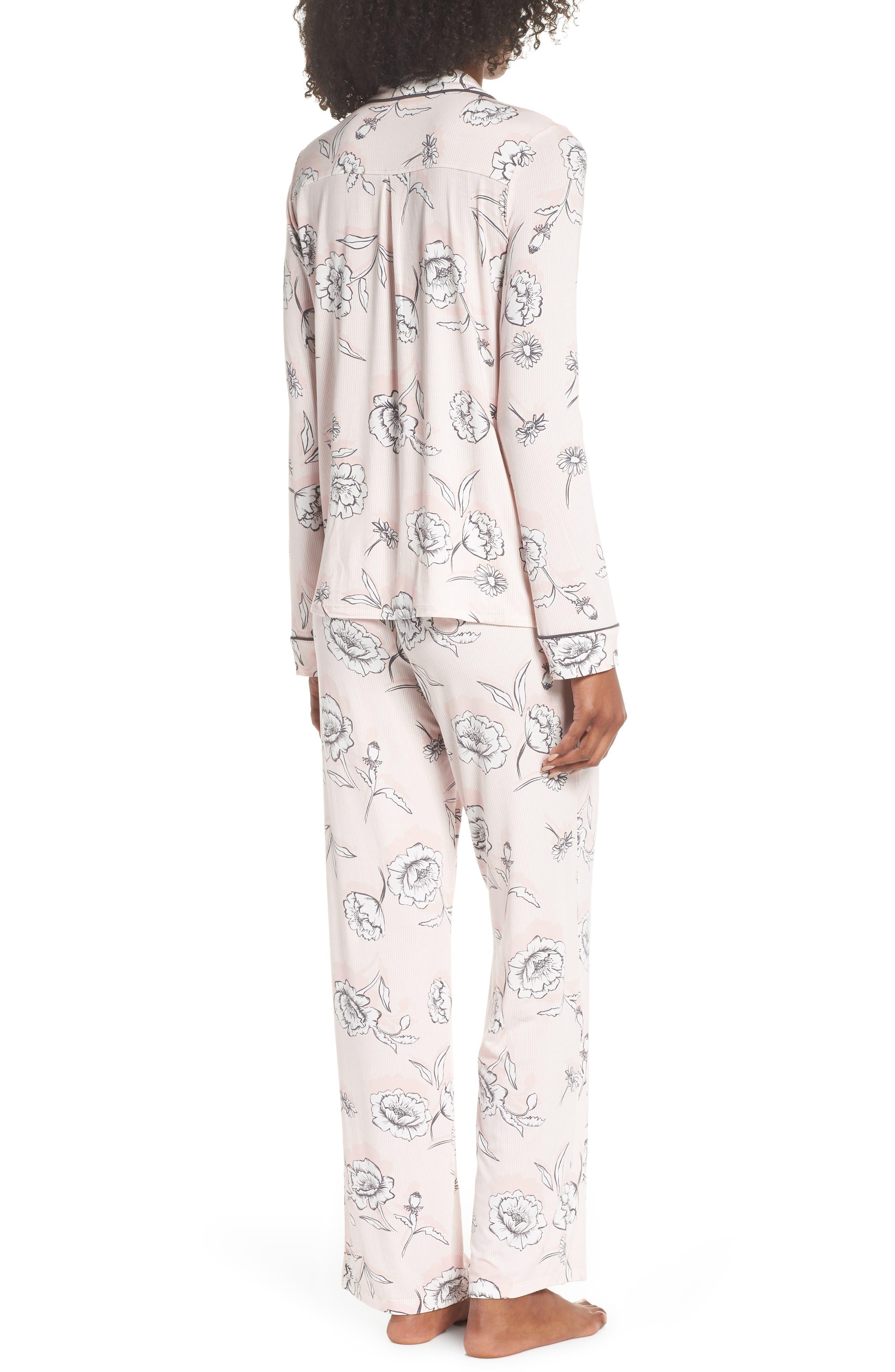 Shadow Floral Pajamas,                             Alternate thumbnail 2, color,                             650