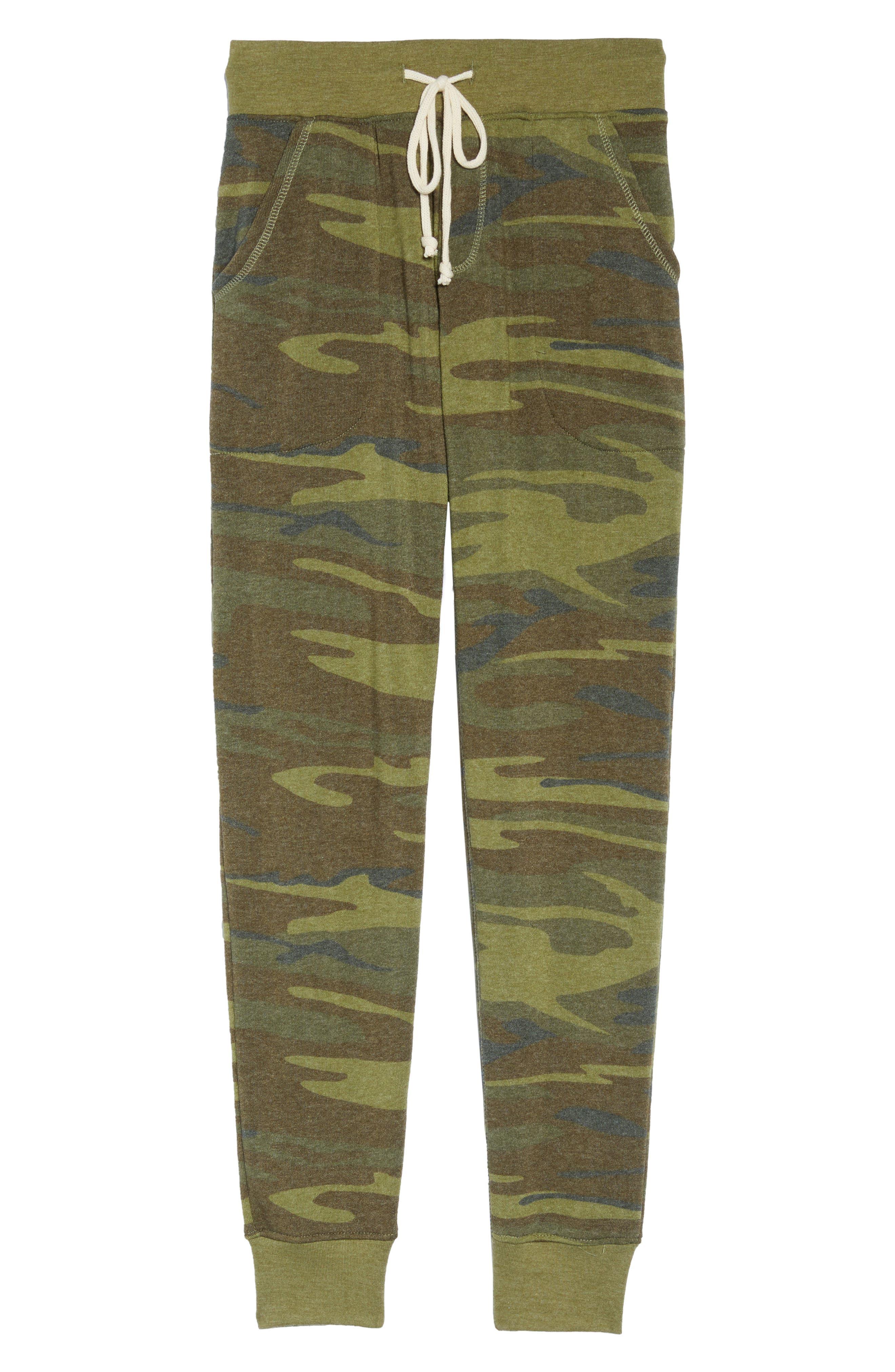 Camo Print Fleece Jogger Pants,                             Alternate thumbnail 12, color,