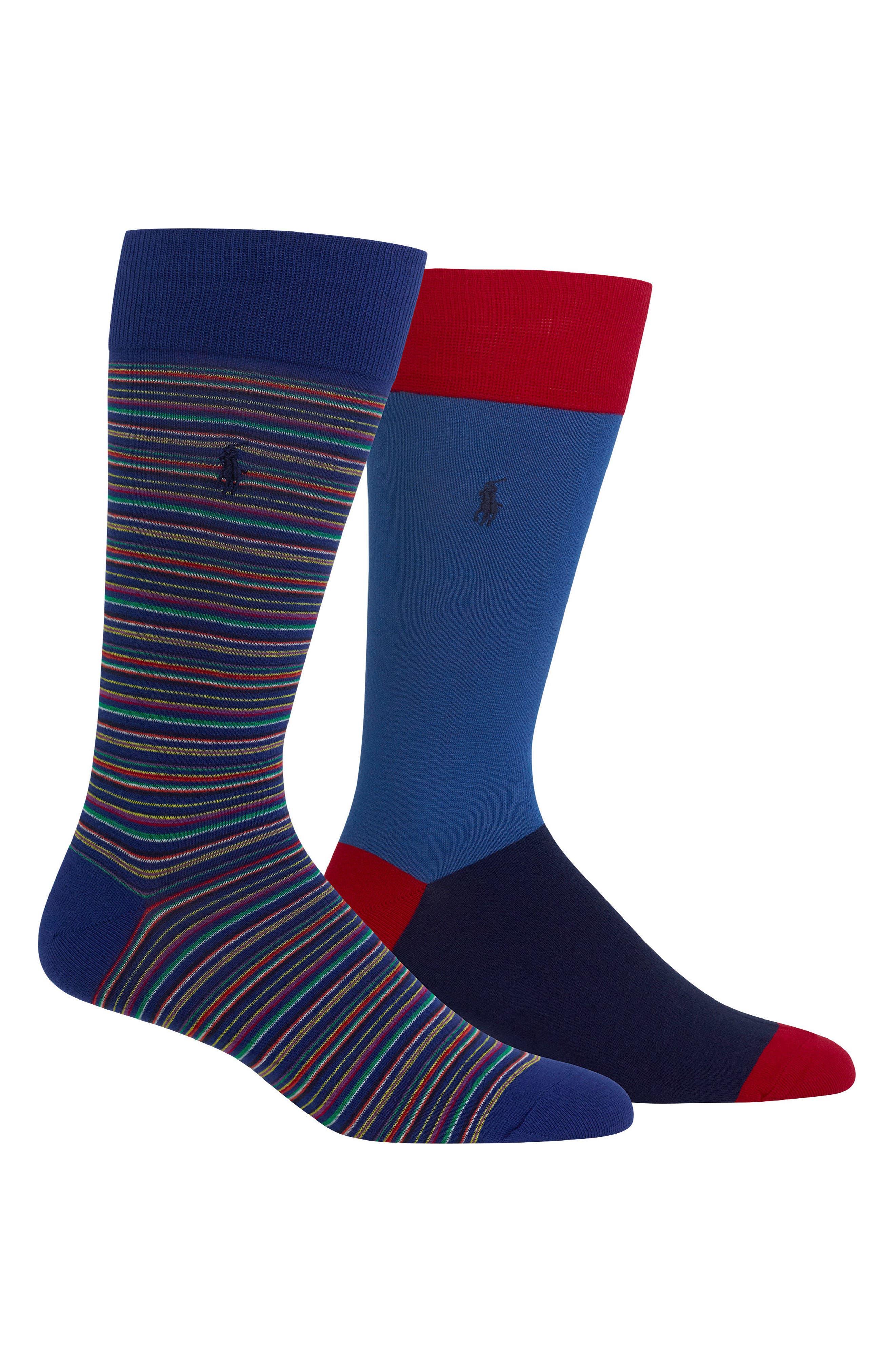 Stripe 2-Pack Socks,                         Main,                         color, 460