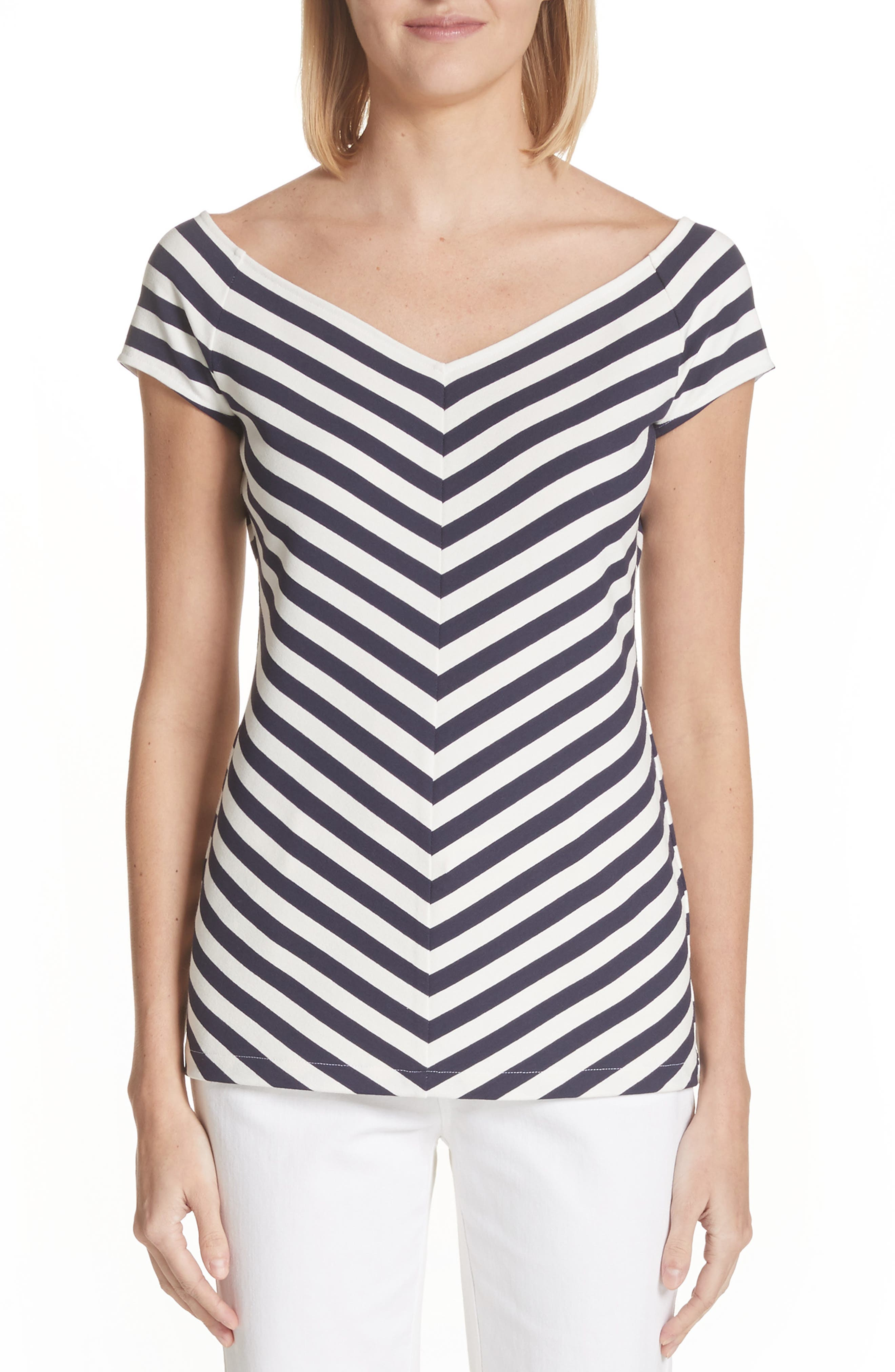 Reese V-Neck Tee,                         Main,                         color, 419