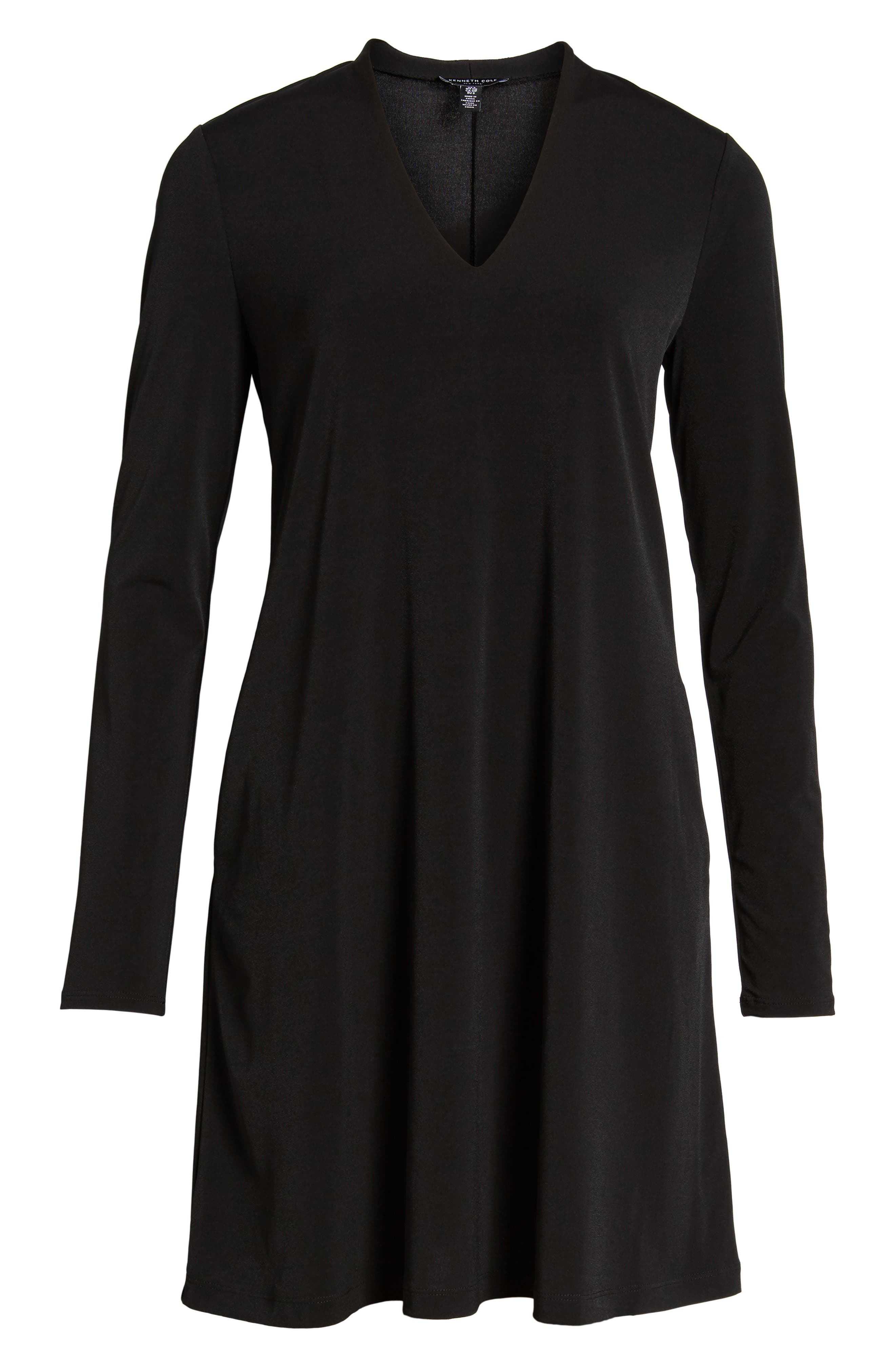 V-Neck A-Line Dress,                             Alternate thumbnail 16, color,