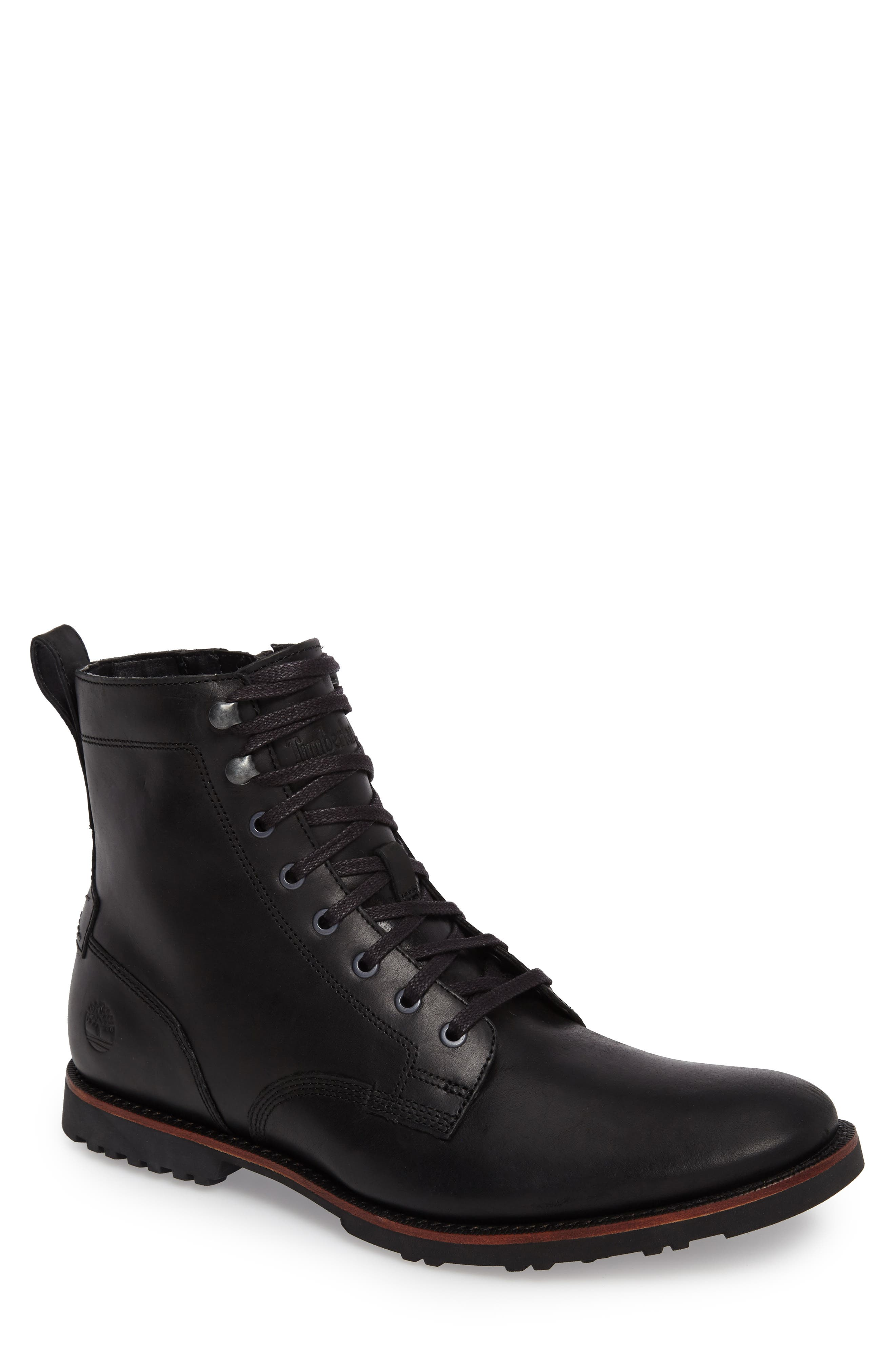 Kendrick Side Zip Leather Boot,                             Main thumbnail 1, color,                             001