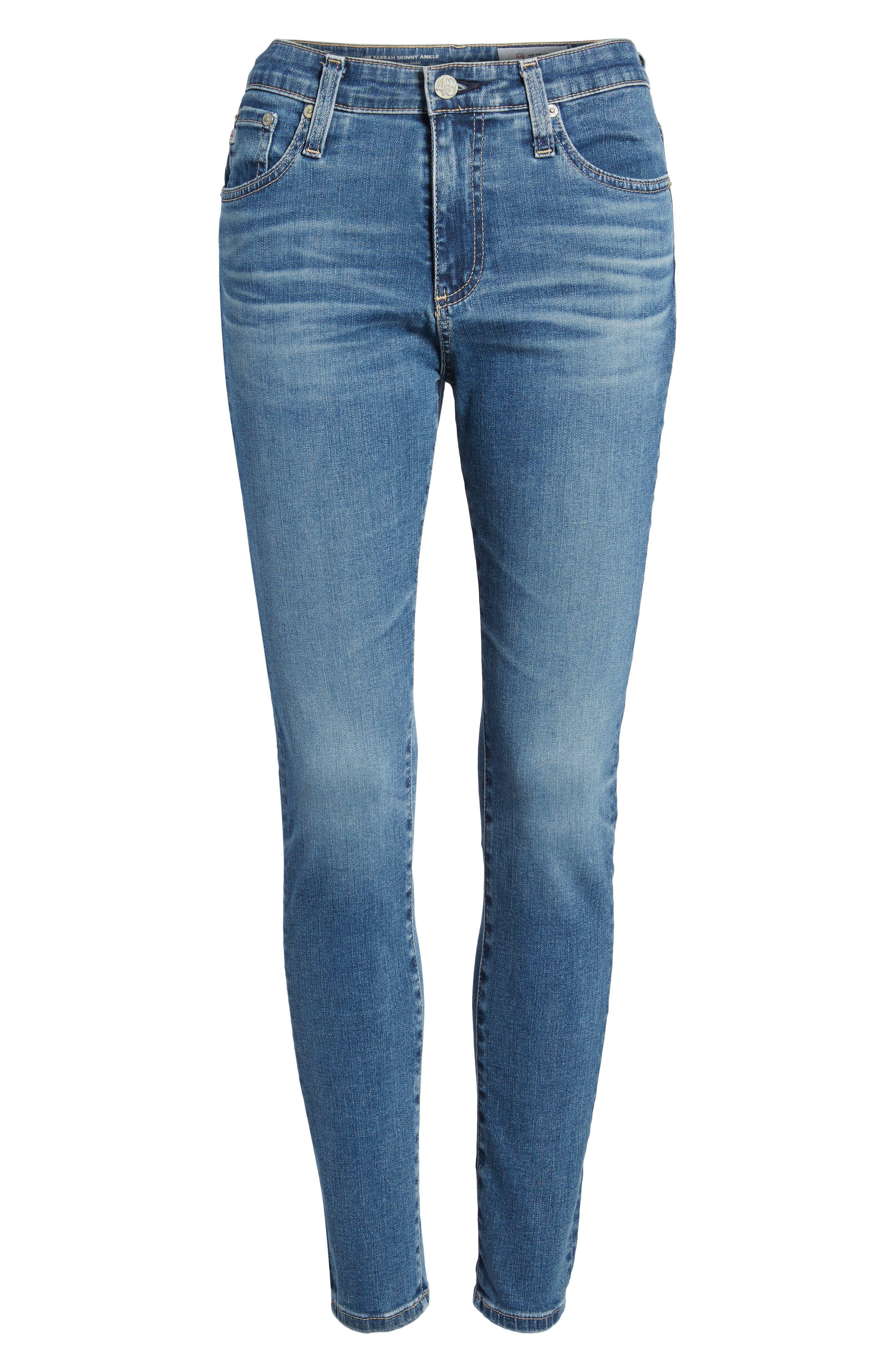 The Farrah High Waist Ankle Skinny Jeans,                             Alternate thumbnail 7, color,                             414