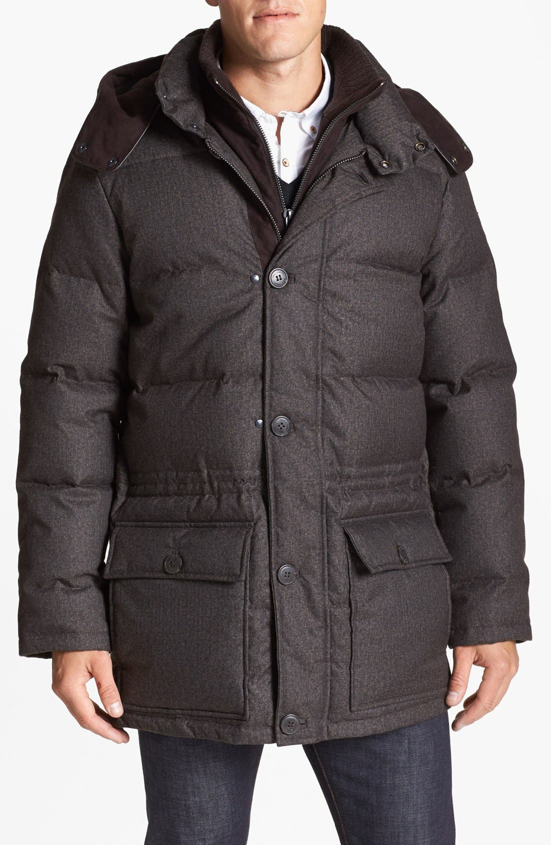 680-Down Fill Quilted Hooded Parka,                             Main thumbnail 3, color,