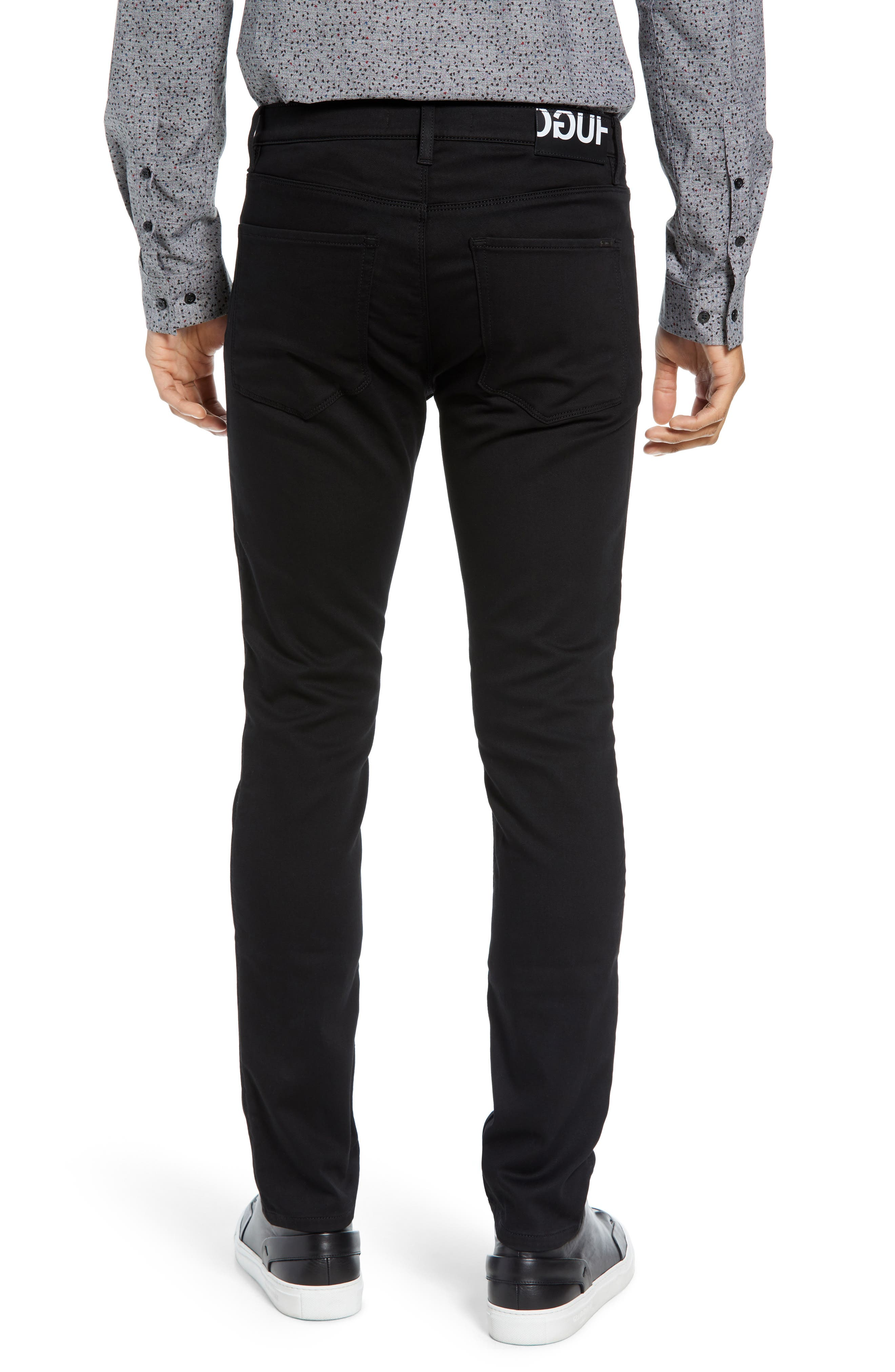 734 Skinny Fit Jeans,                             Alternate thumbnail 2, color,                             BLACK