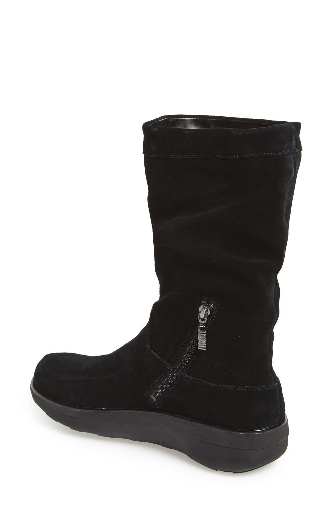 'Loaff' Slouchy Boot,                             Alternate thumbnail 3, color,                             001