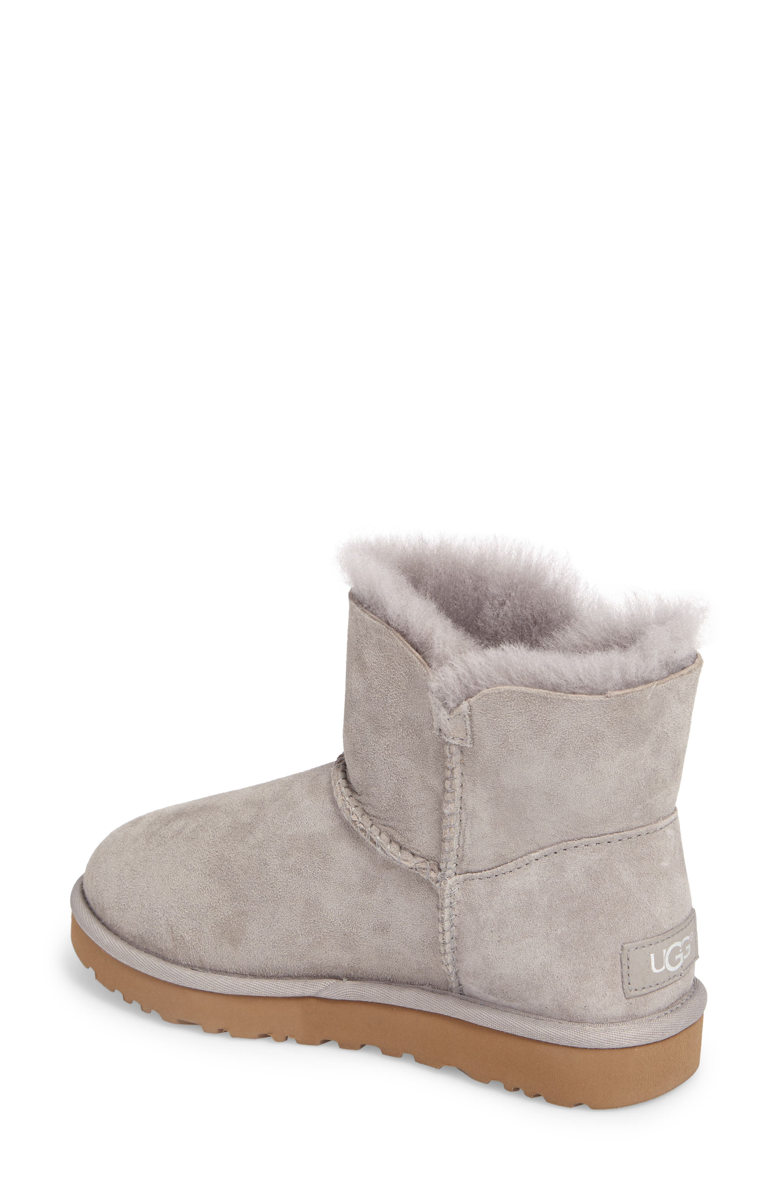 Bailey Petal Genuine Shearling Lined Mini Boot,                             Alternate thumbnail 5, color,
