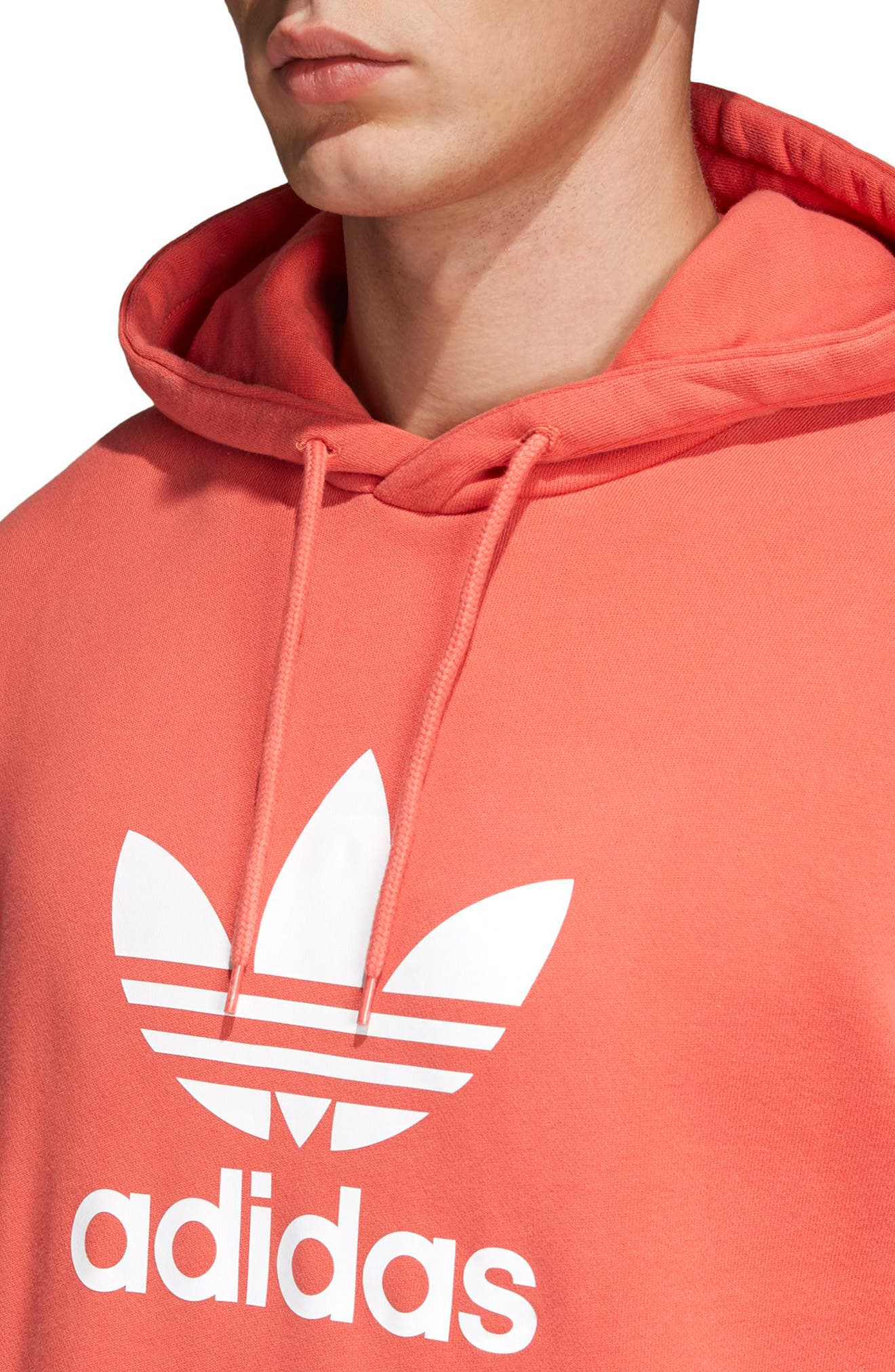 Trefoil Graphic Hoodie,                             Alternate thumbnail 4, color,                             TRASCA
