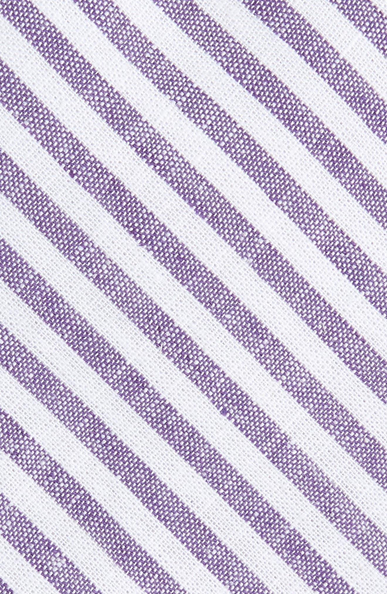 Telary Stripe Cotton Skinny Tie,                             Alternate thumbnail 5, color,