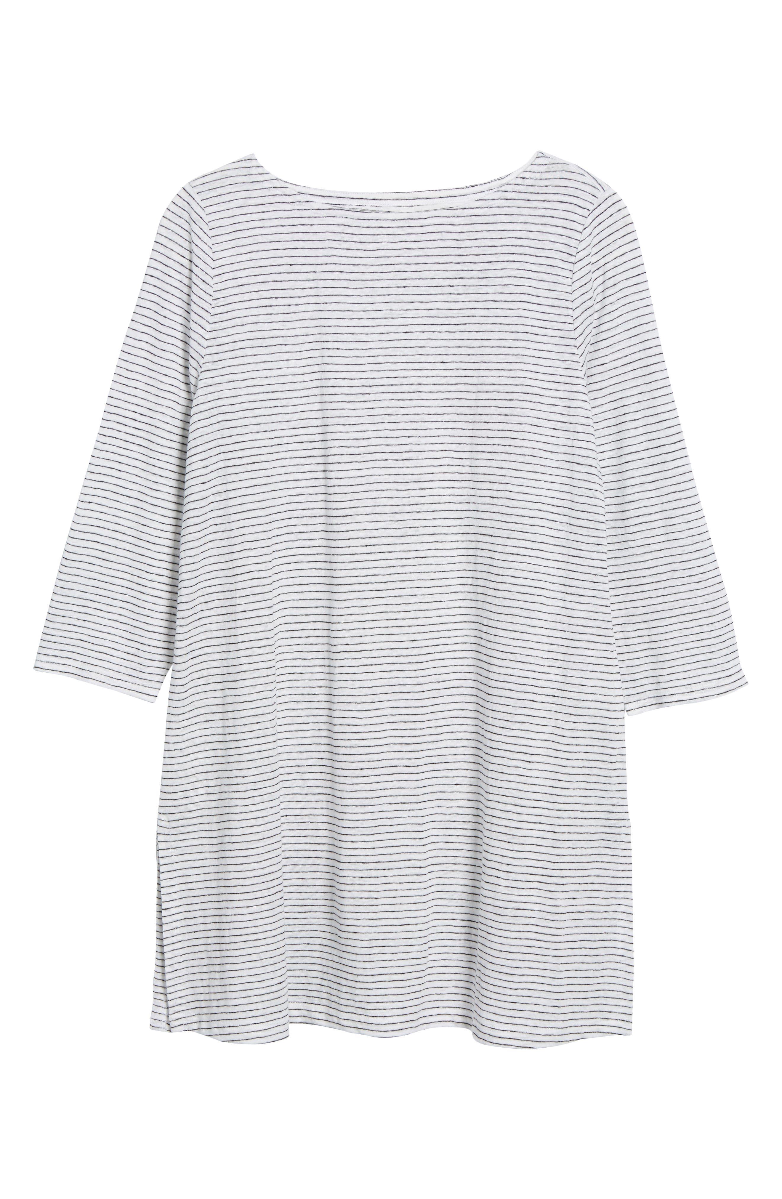 Organic Linen Tunic,                             Alternate thumbnail 6, color,                             120