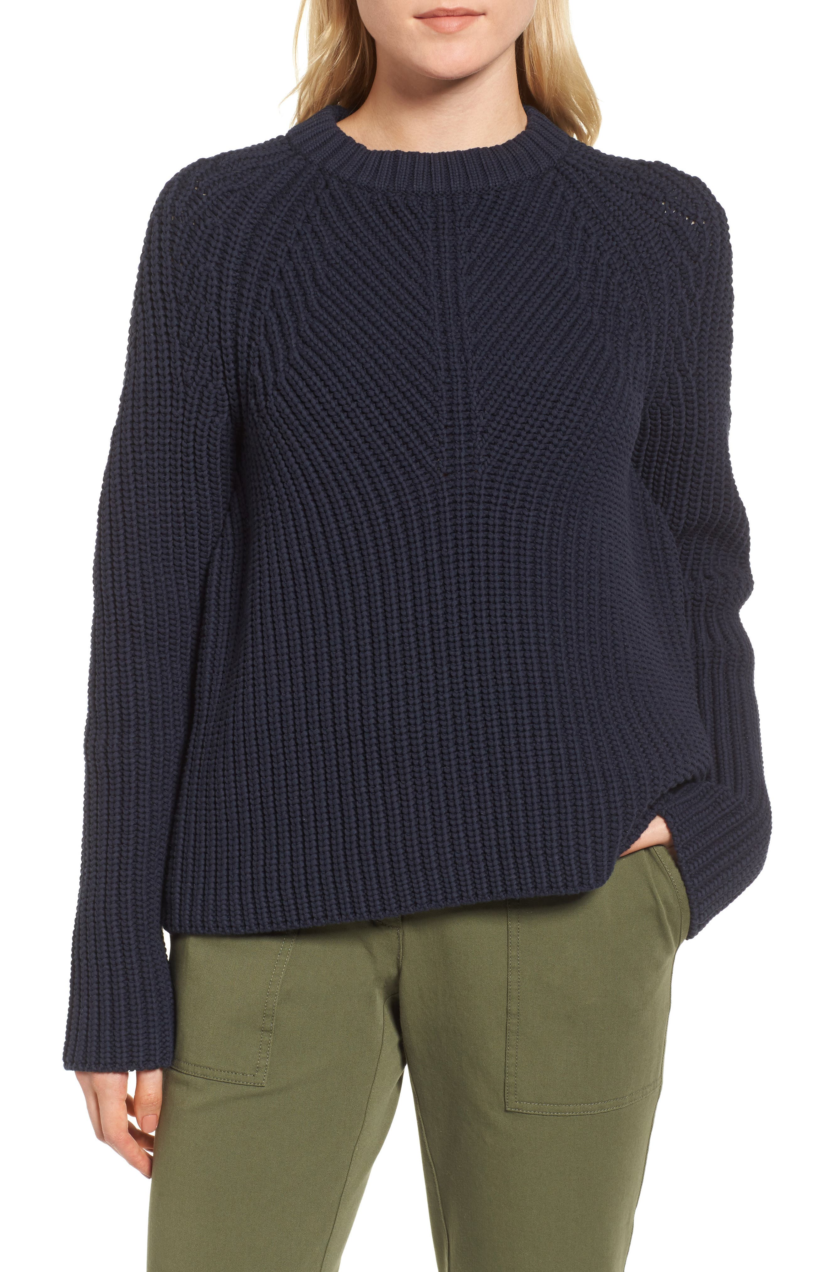 Raglan Sleeve Knit Sweater,                         Main,                         color, 410