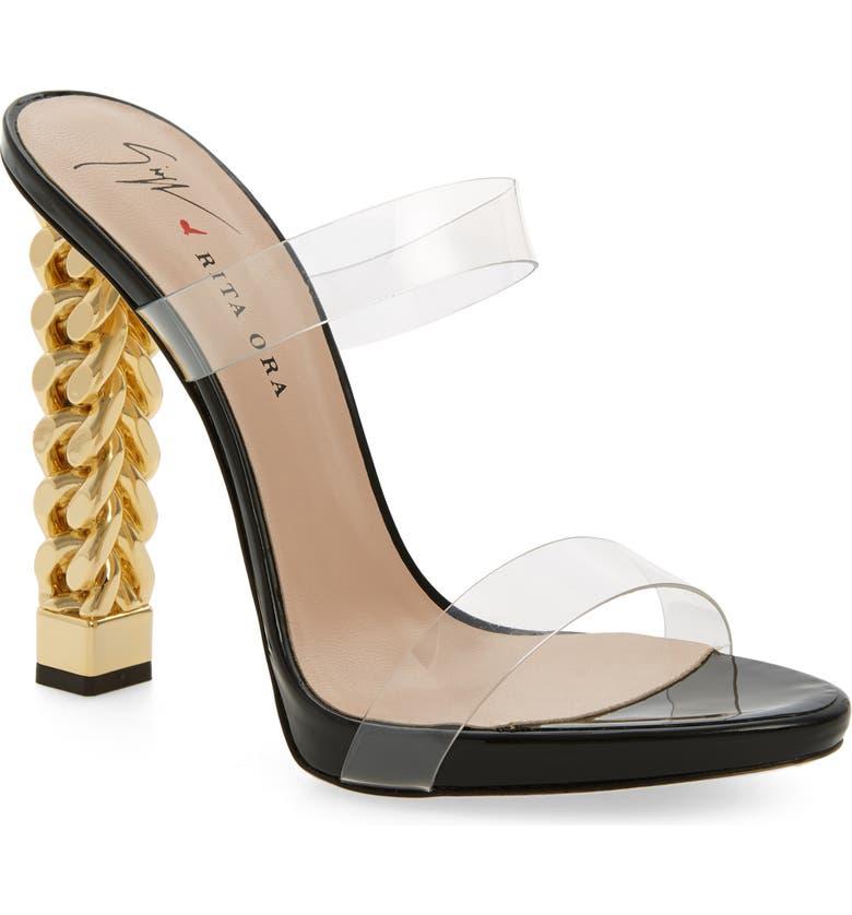 Best Giuseppe Zanotti x Rita Ora Transparent Strap Sandal (Women) Great deals