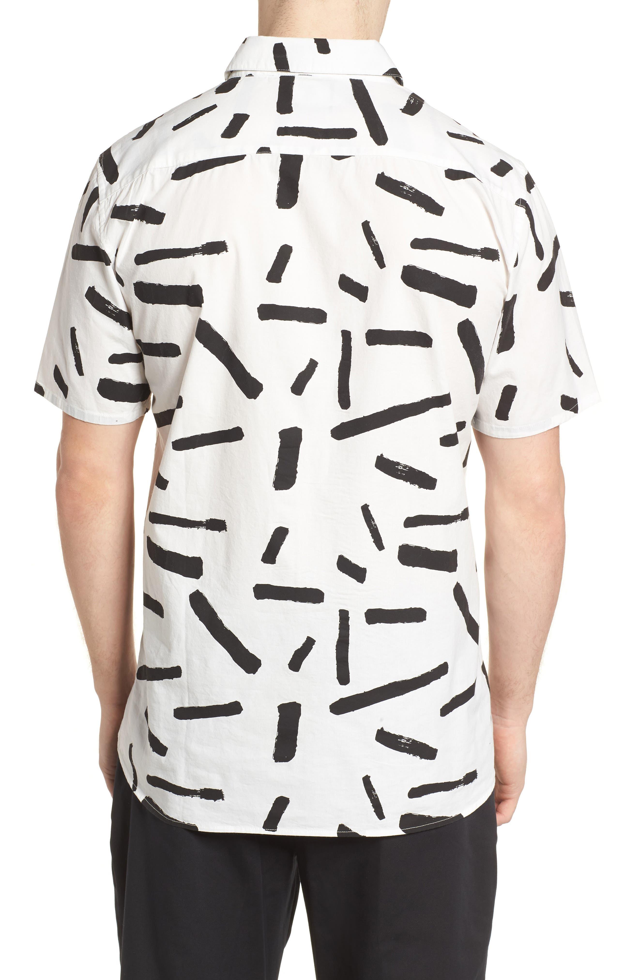 Print Short Sleeve Shirt,                             Alternate thumbnail 6, color,
