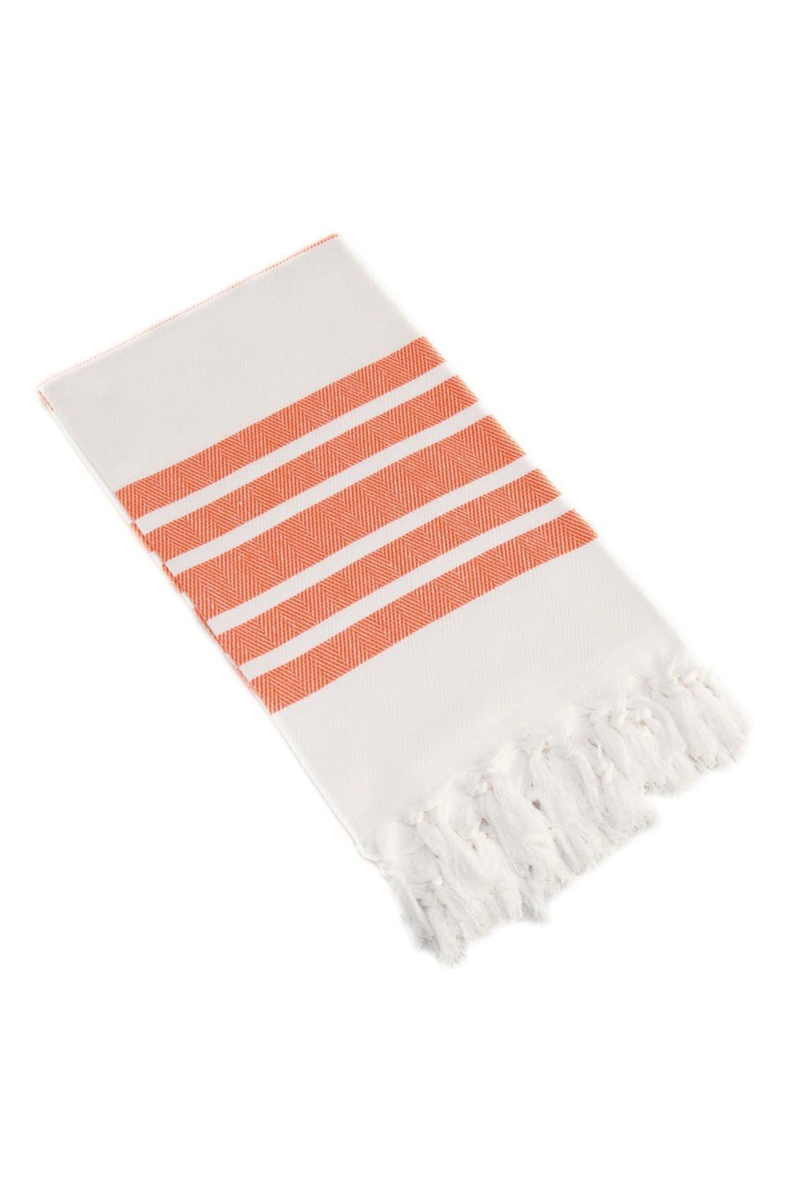 Herringbone Striped Turkish Pestemal Towel,                             Main thumbnail 1, color,                             800