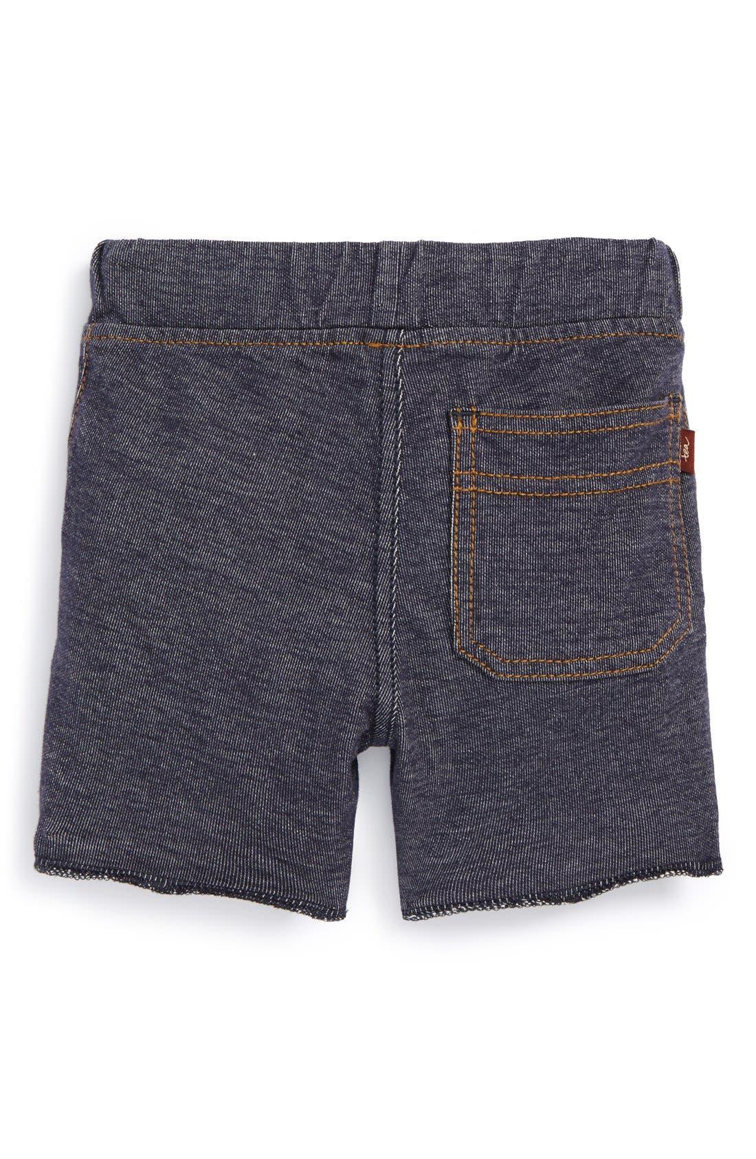Denim Look Shorts,                             Alternate thumbnail 3, color,                             411