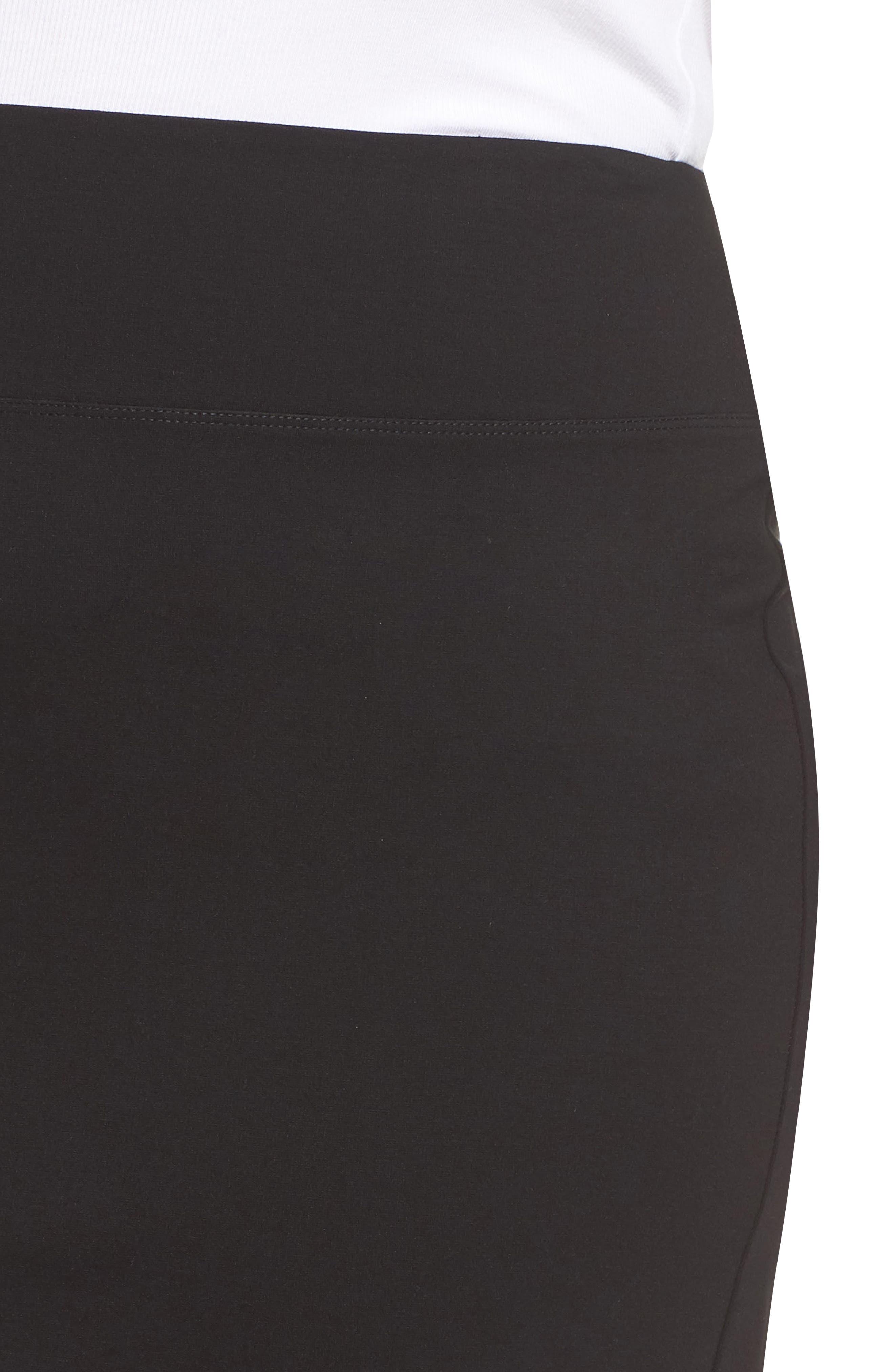 Ponte Skirt,                             Alternate thumbnail 4, color,                             BLACK