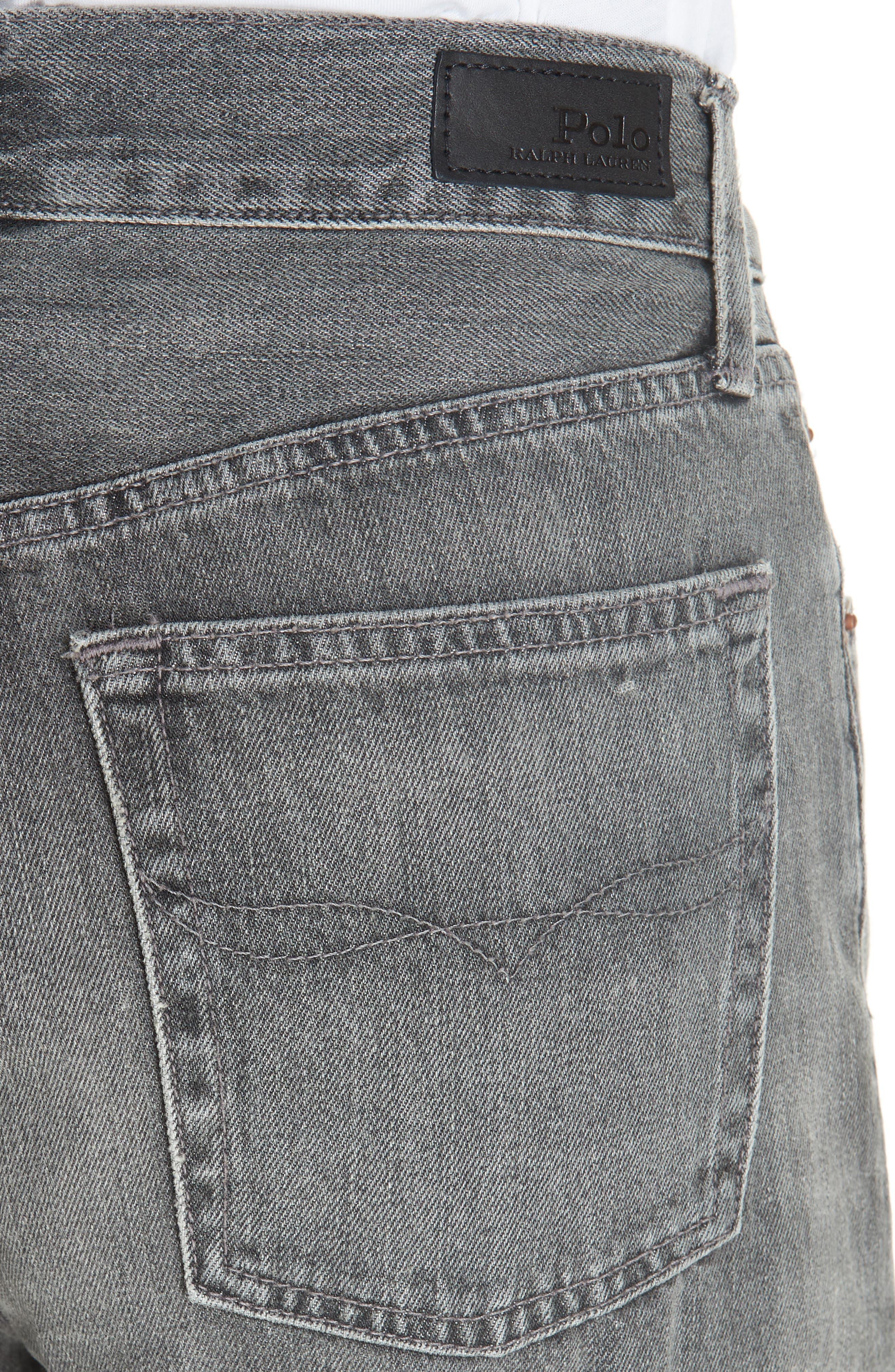 High Waist Slim Straight Crop Jeans,                             Alternate thumbnail 4, color,                             020