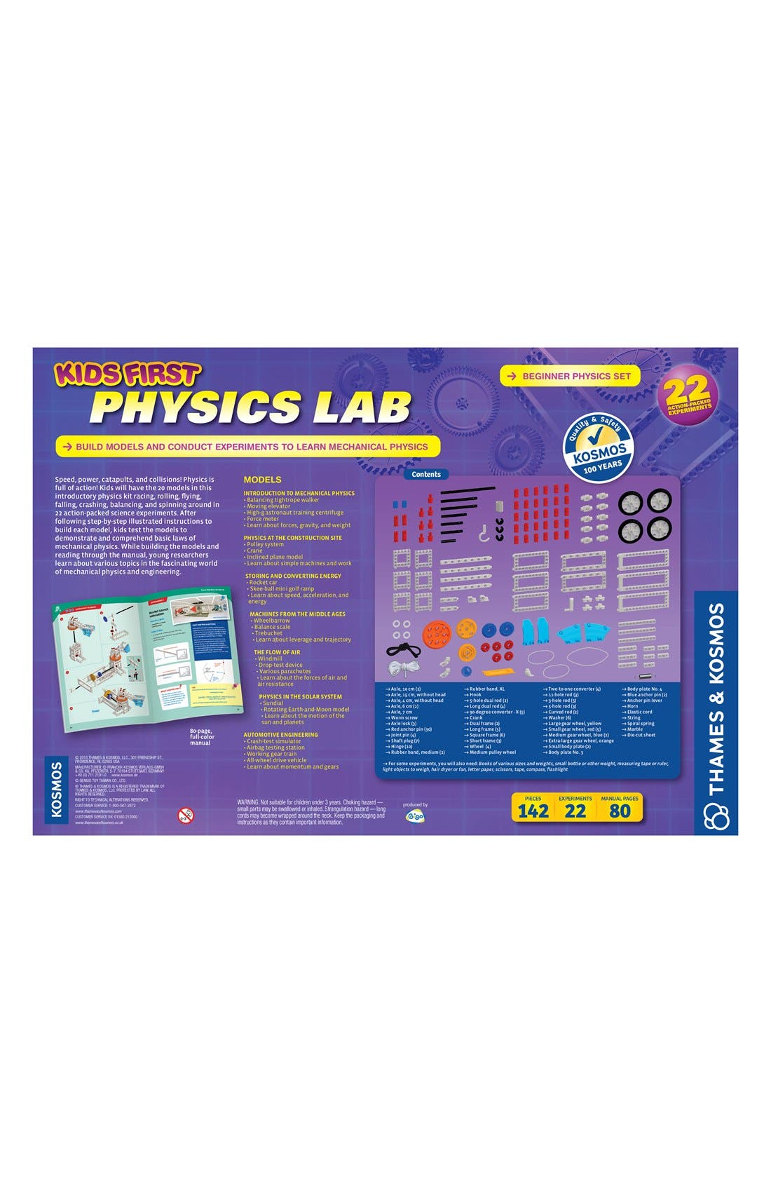 'Kids First - Physics Lab' Experiment Kit,                             Alternate thumbnail 5, color,                             PURPLE