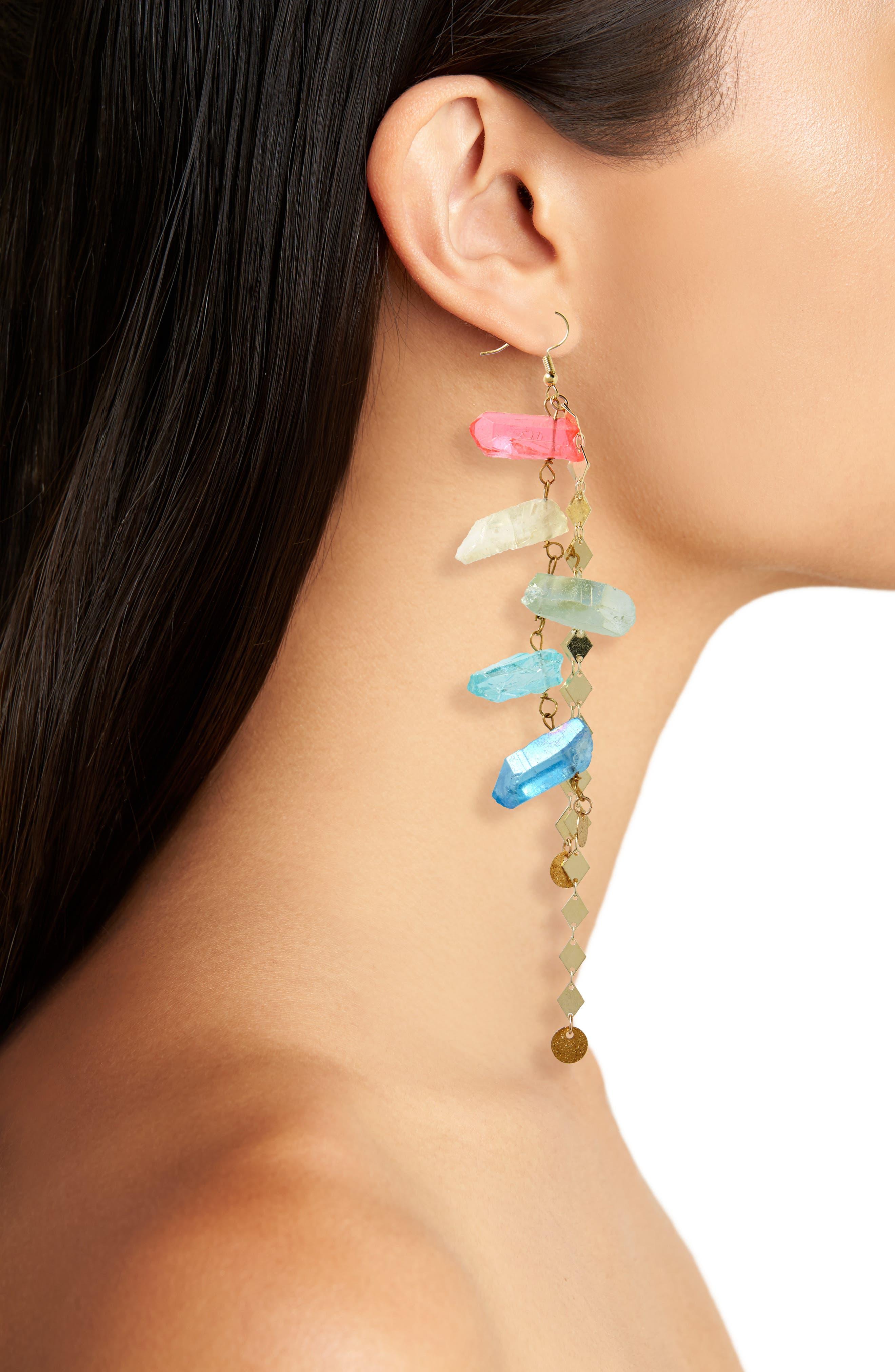 Aura Quartz Drop Earrings,                             Alternate thumbnail 2, color,                             710