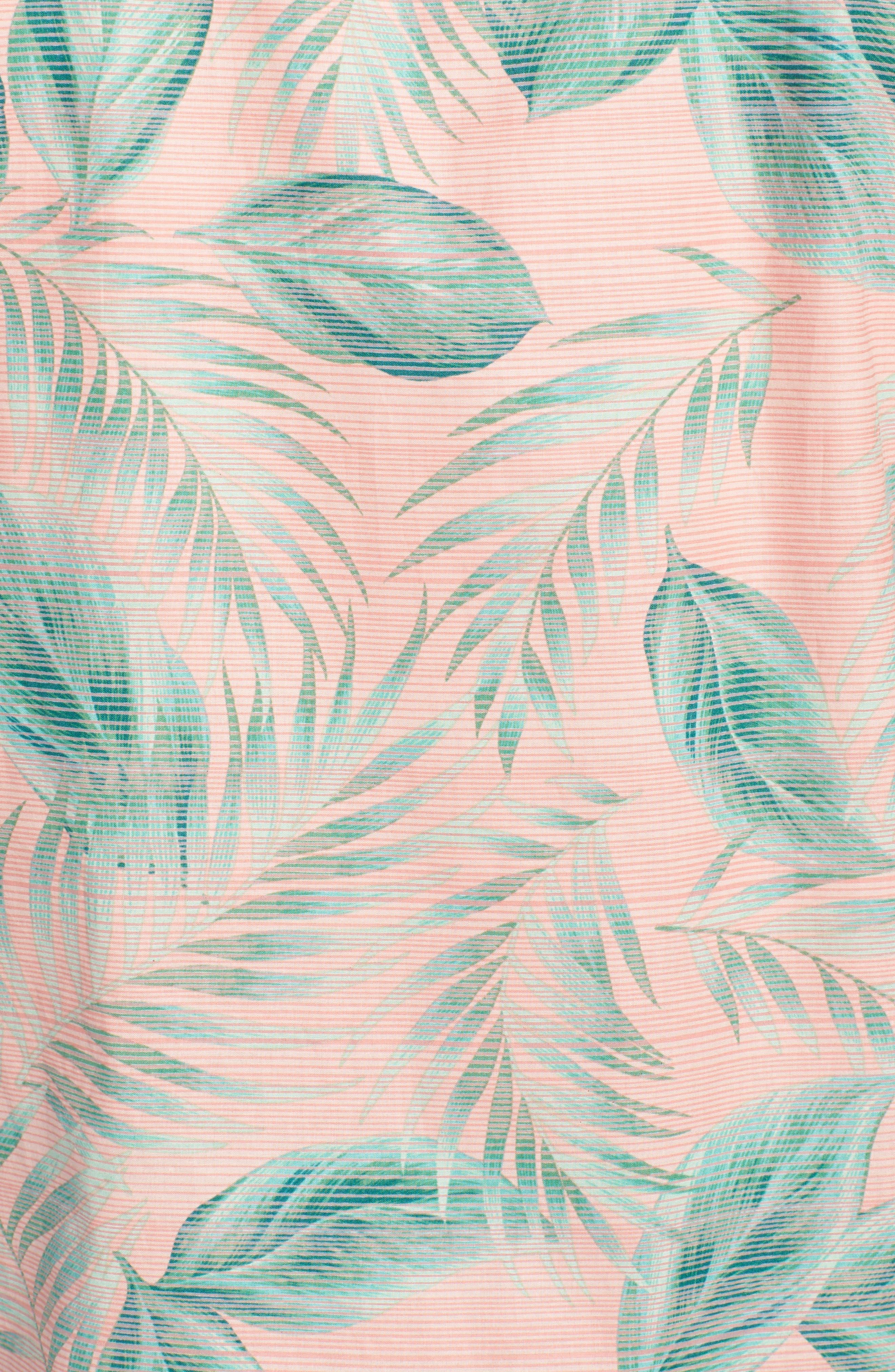 Shade Plant Trim Fit Camp Shirt,                             Alternate thumbnail 5, color,                             BISQUE