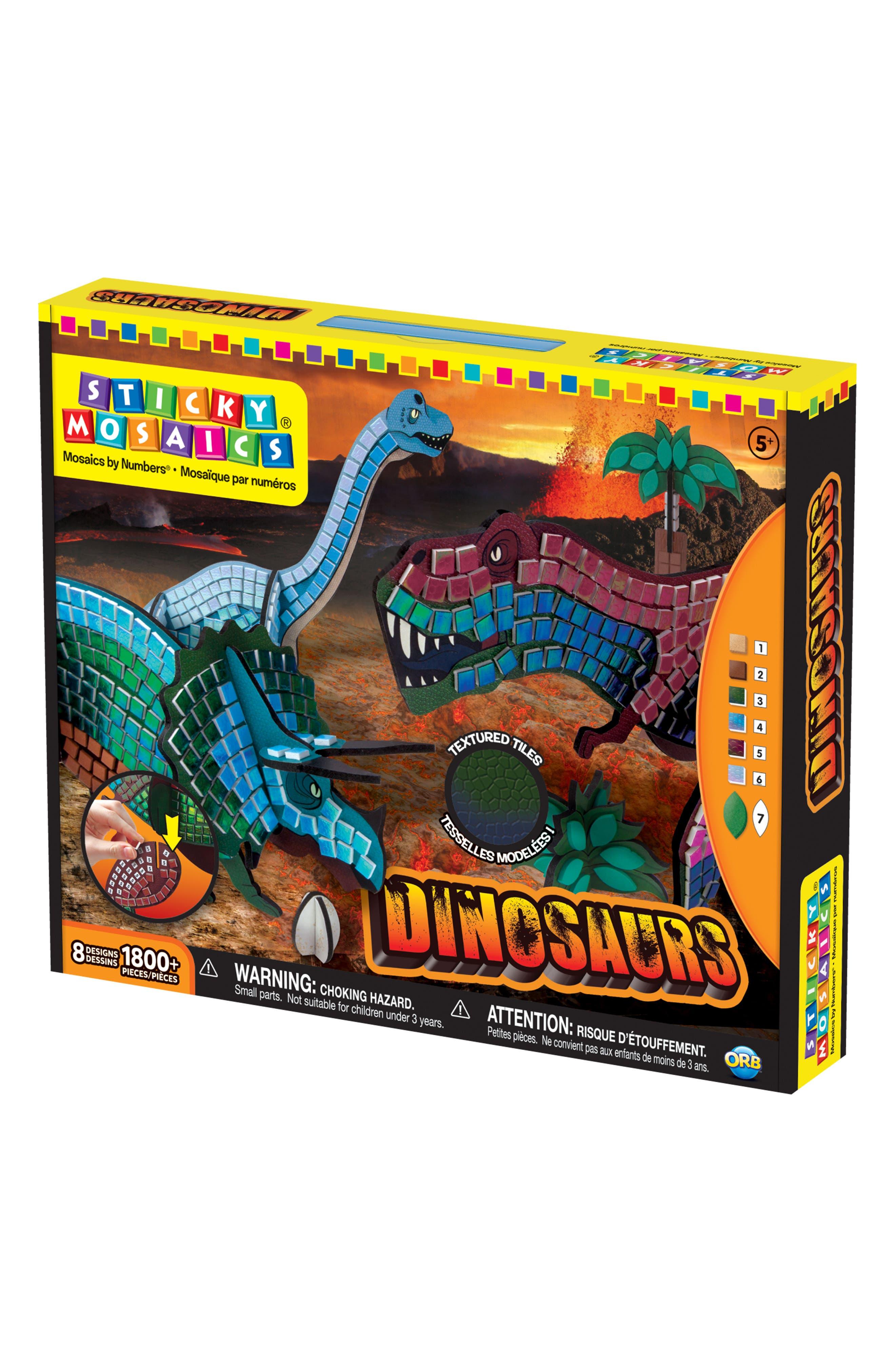 Sticky Mosaics - Dinosaurs Craft Kit,                             Alternate thumbnail 2, color,