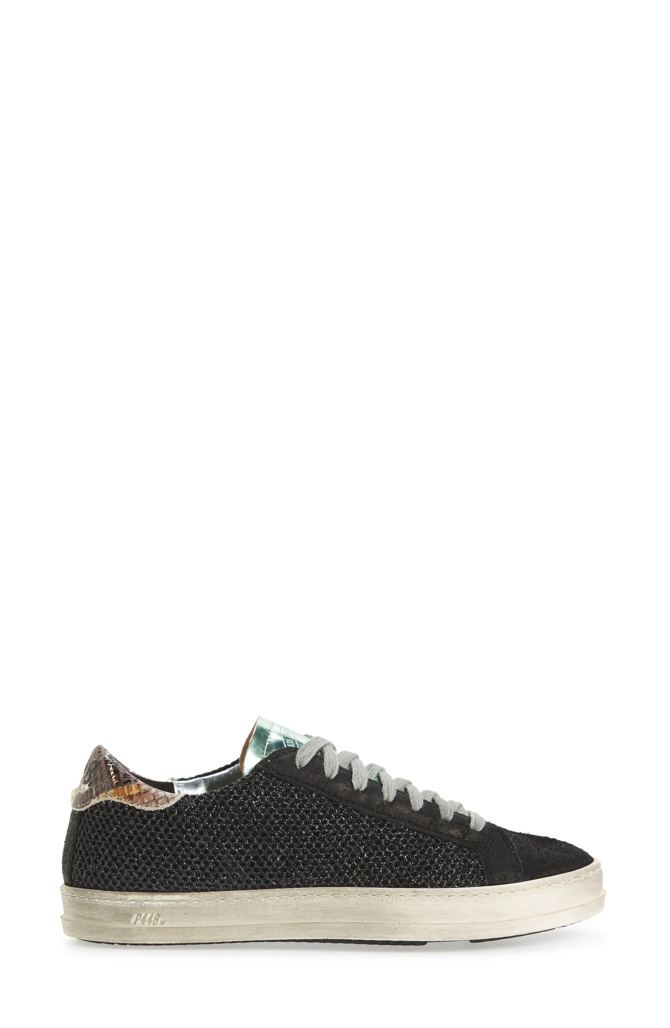 John Sneaker,                             Alternate thumbnail 3, color,                             GLITTER TECHNICAL MESH