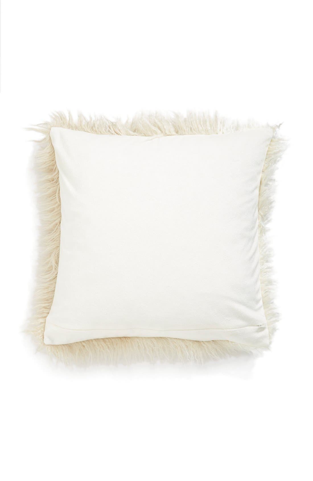 Ombré Faux Fur Flokati Accent Pillow,                             Alternate thumbnail 7, color,
