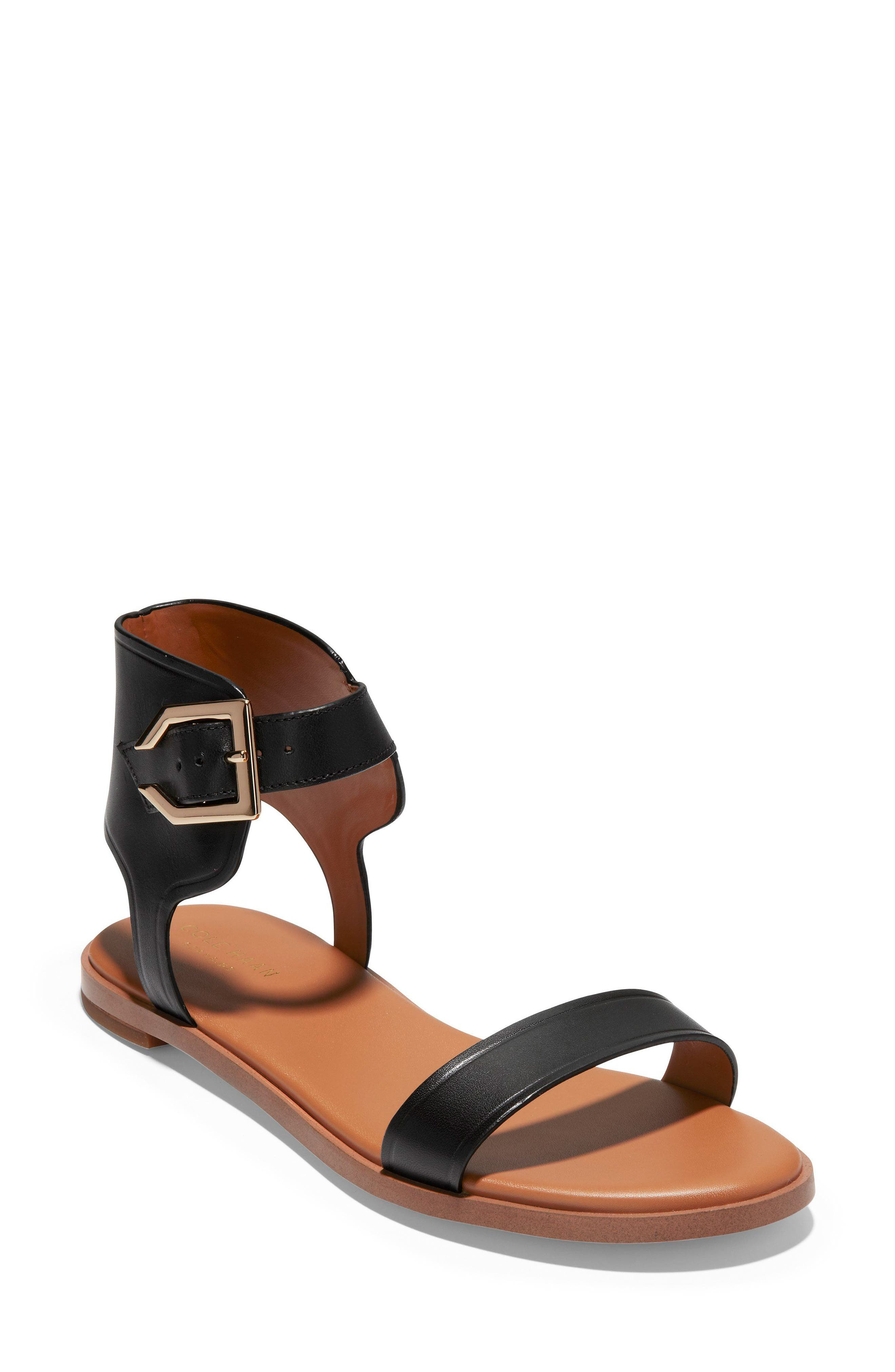 COLE HAAN,                             Anica Cuffed Sandal,                             Main thumbnail 1, color,                             001