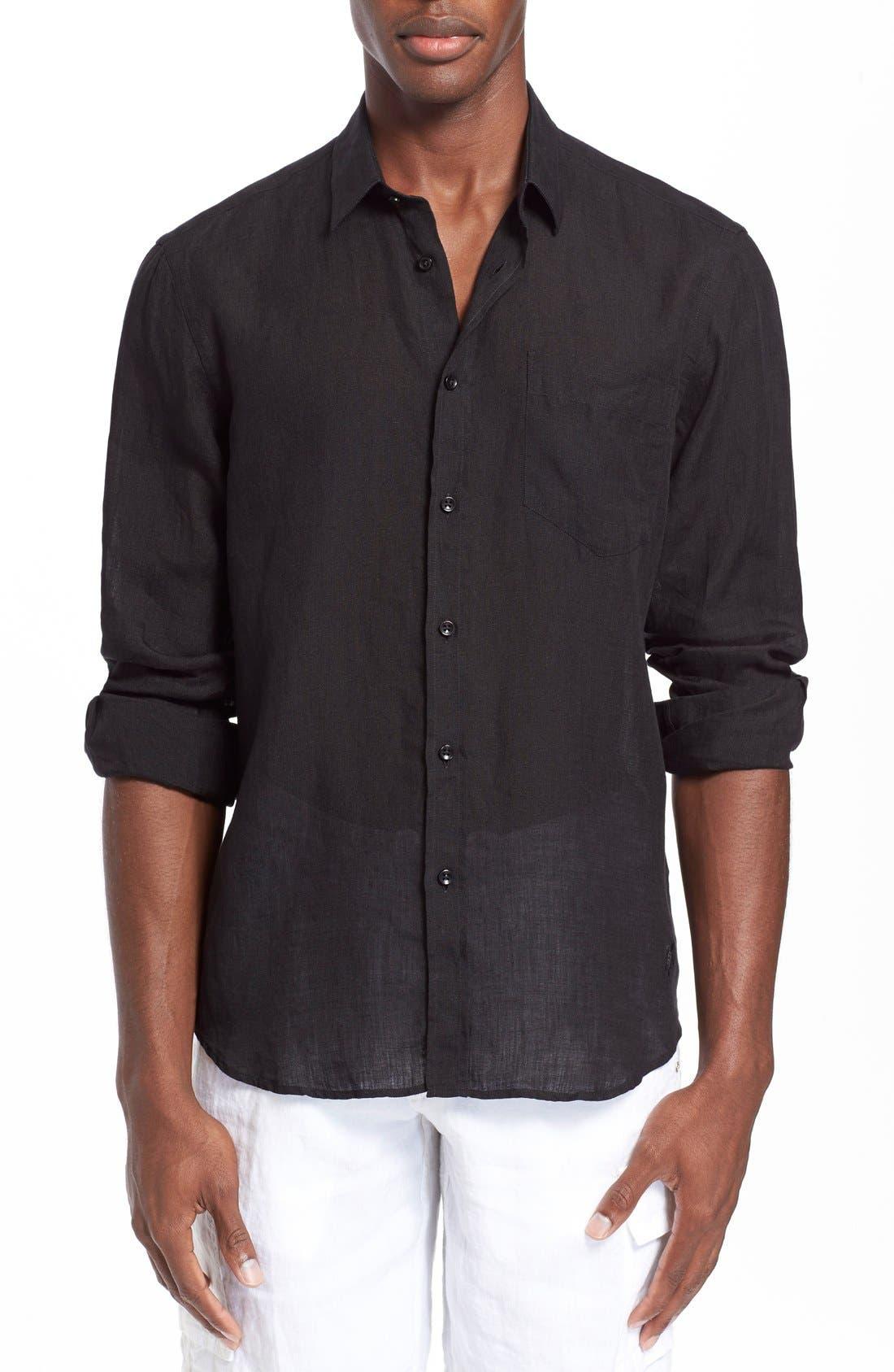 'Caroubier' Linen Shirt,                             Main thumbnail 2, color,