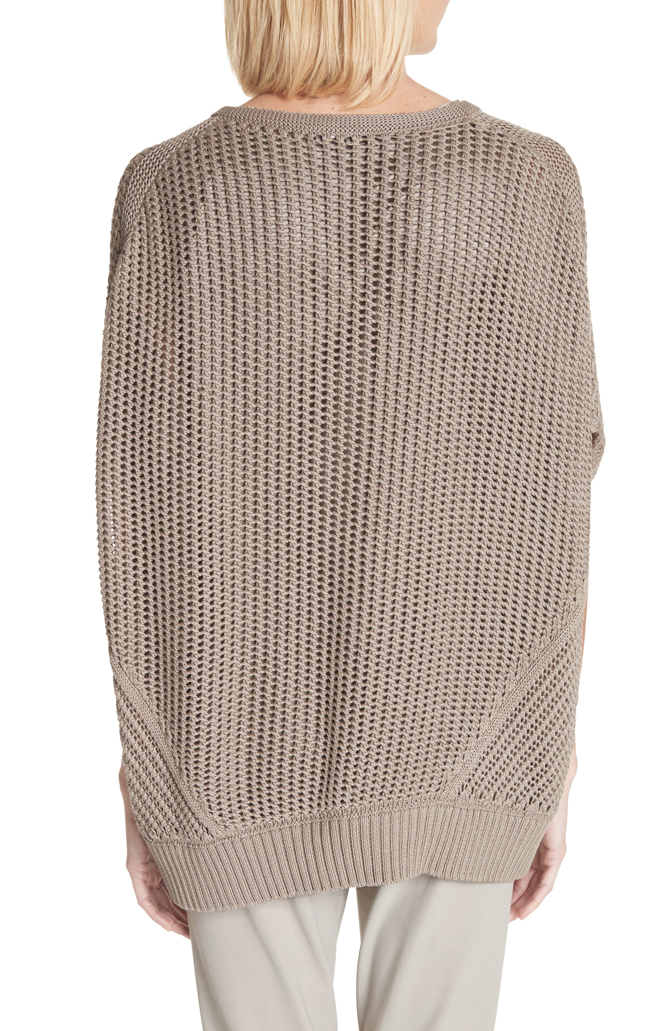 Mixed Stitch Cotton & Silk Sweater,                             Alternate thumbnail 2, color,                             026