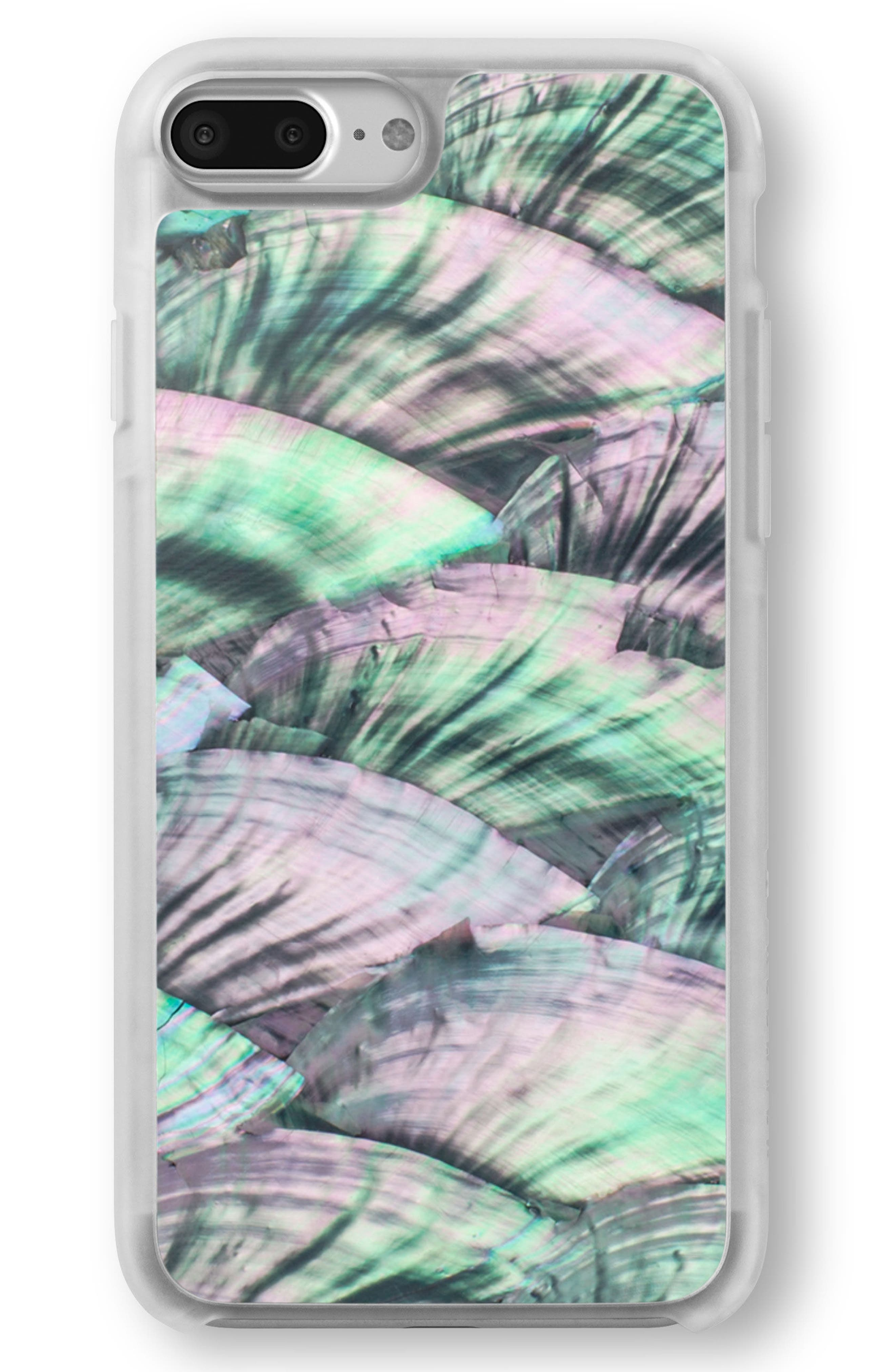 Green Abalone iPhone 6/6s/7/8 & 6/6s/7/8 Plus Case,                             Main thumbnail 1, color,