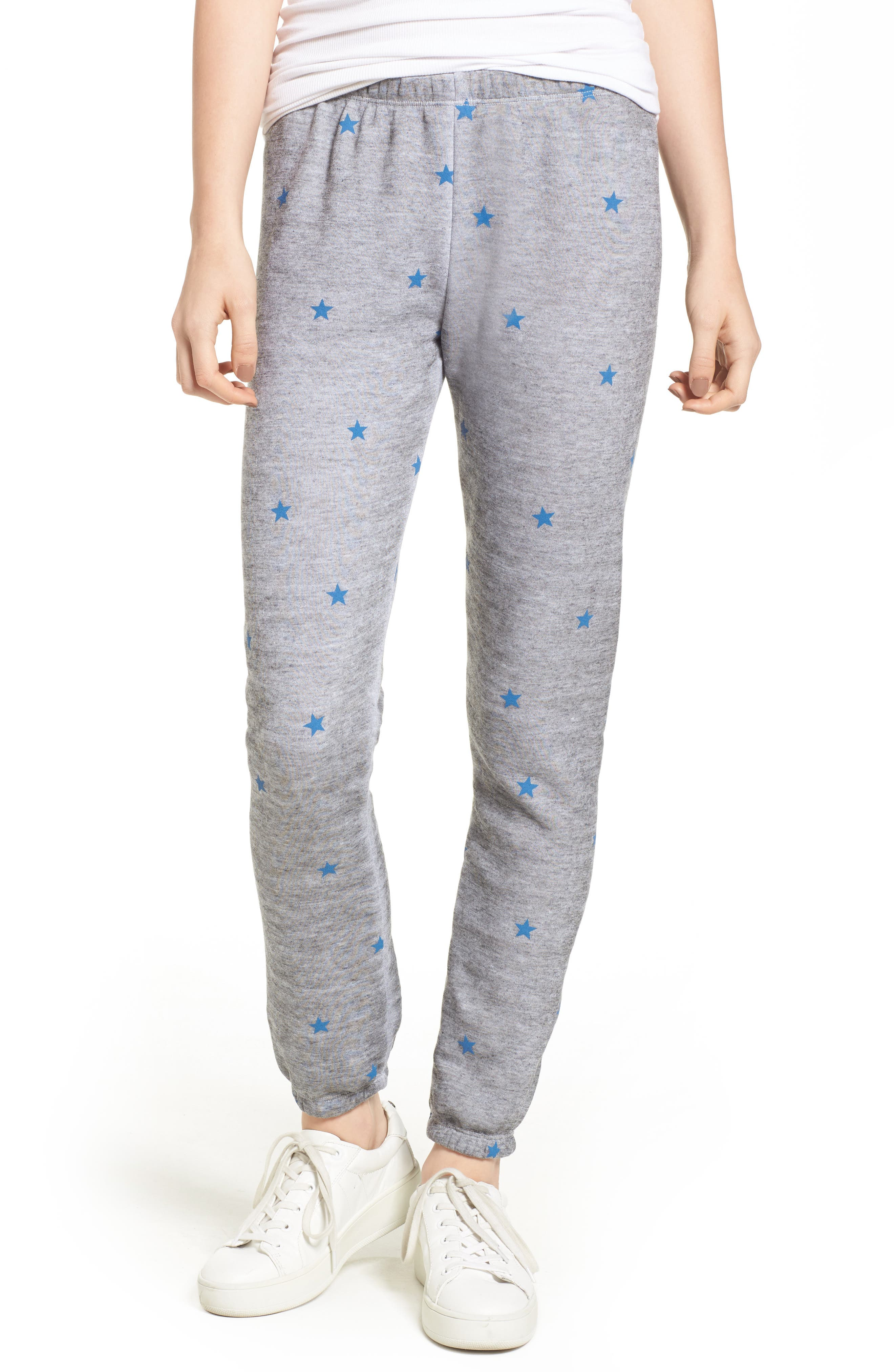 WILDFOX Football Star Knot Sweatpants, Main, color, 020