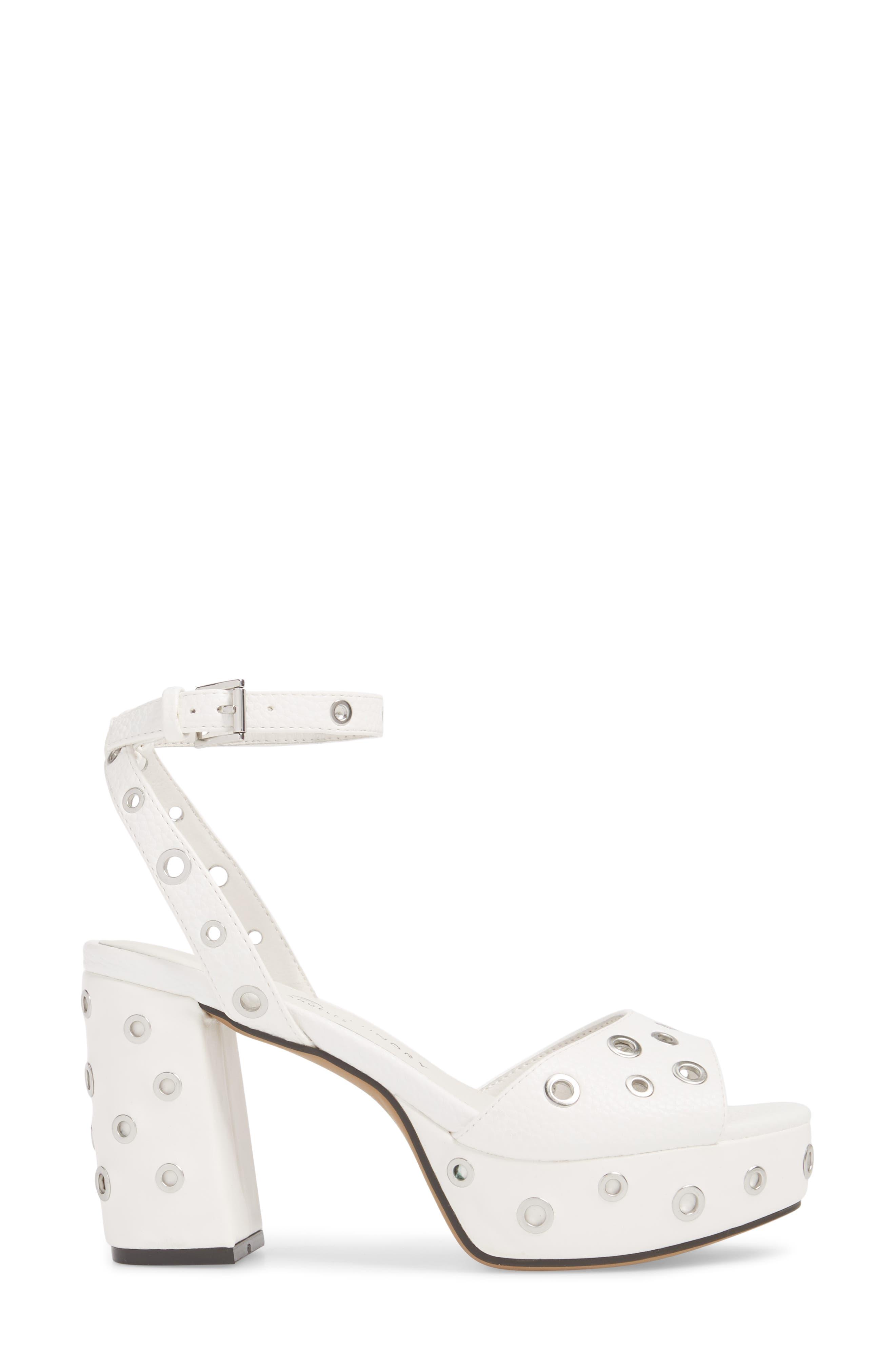 Tara Grommet Platform Sandal,                             Alternate thumbnail 3, color,                             100