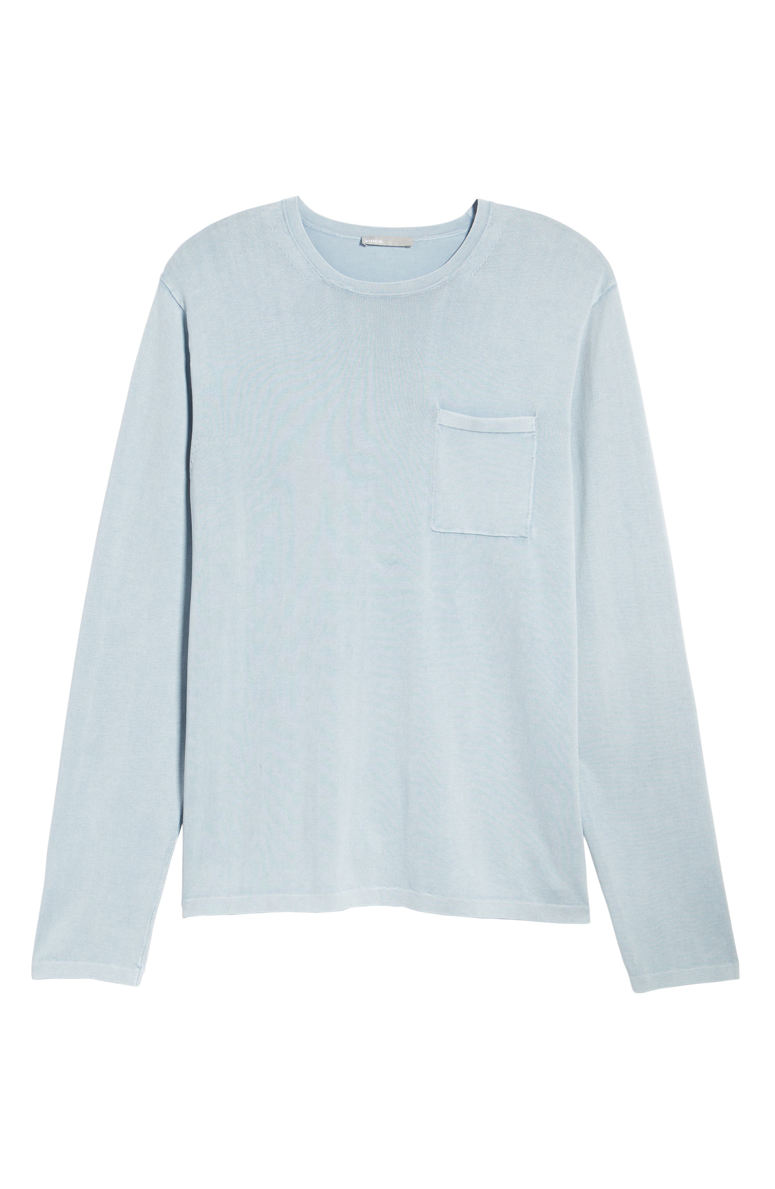 Crewneck Cotton Sweater,                             Alternate thumbnail 6, color,                             ARCTIC
