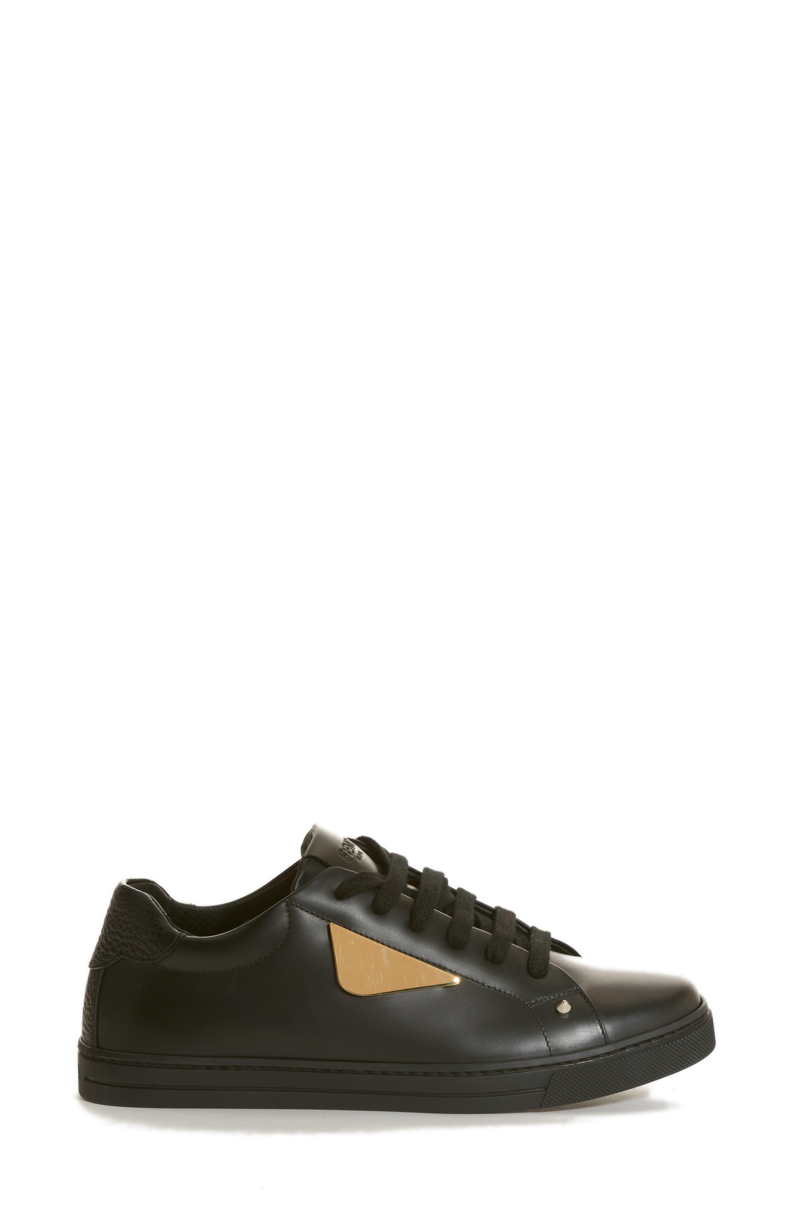 Bugs Sneaker,                             Alternate thumbnail 3, color,                             BLACK