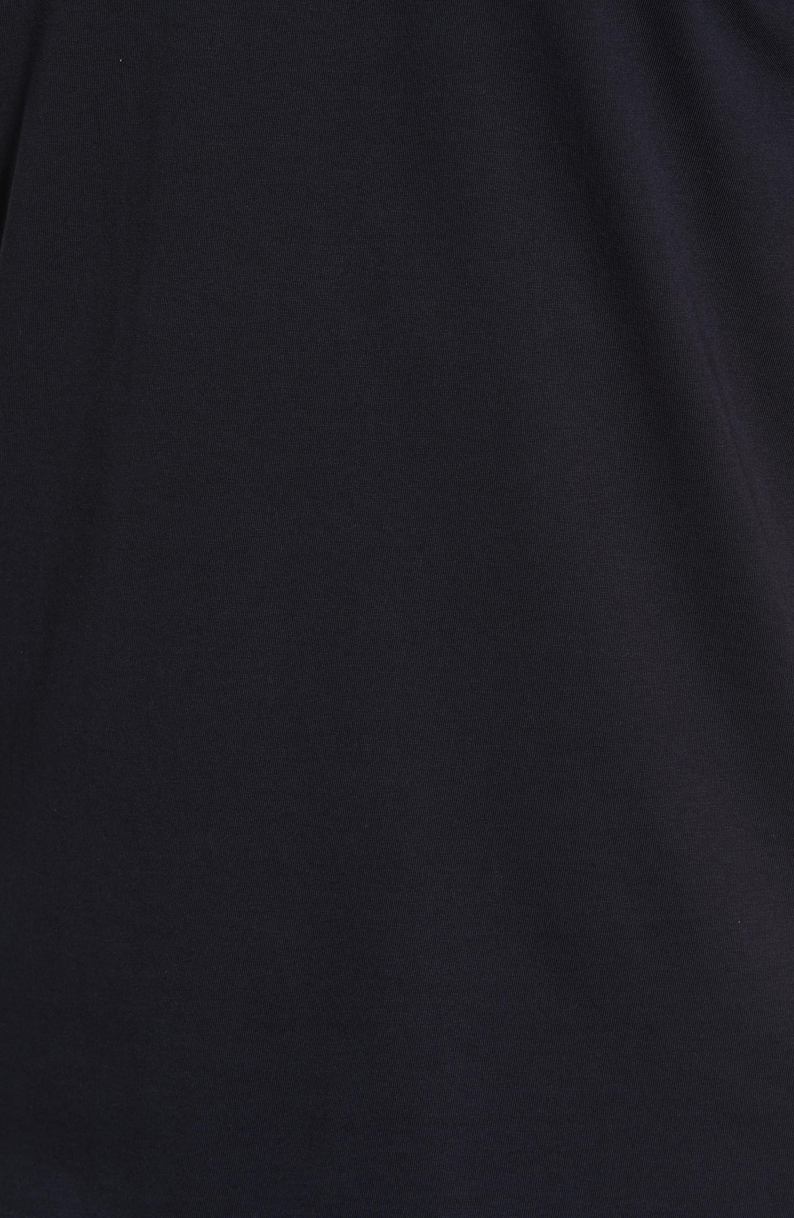 Living V-Neck T-Shirt,                             Alternate thumbnail 5, color,                             BLACK