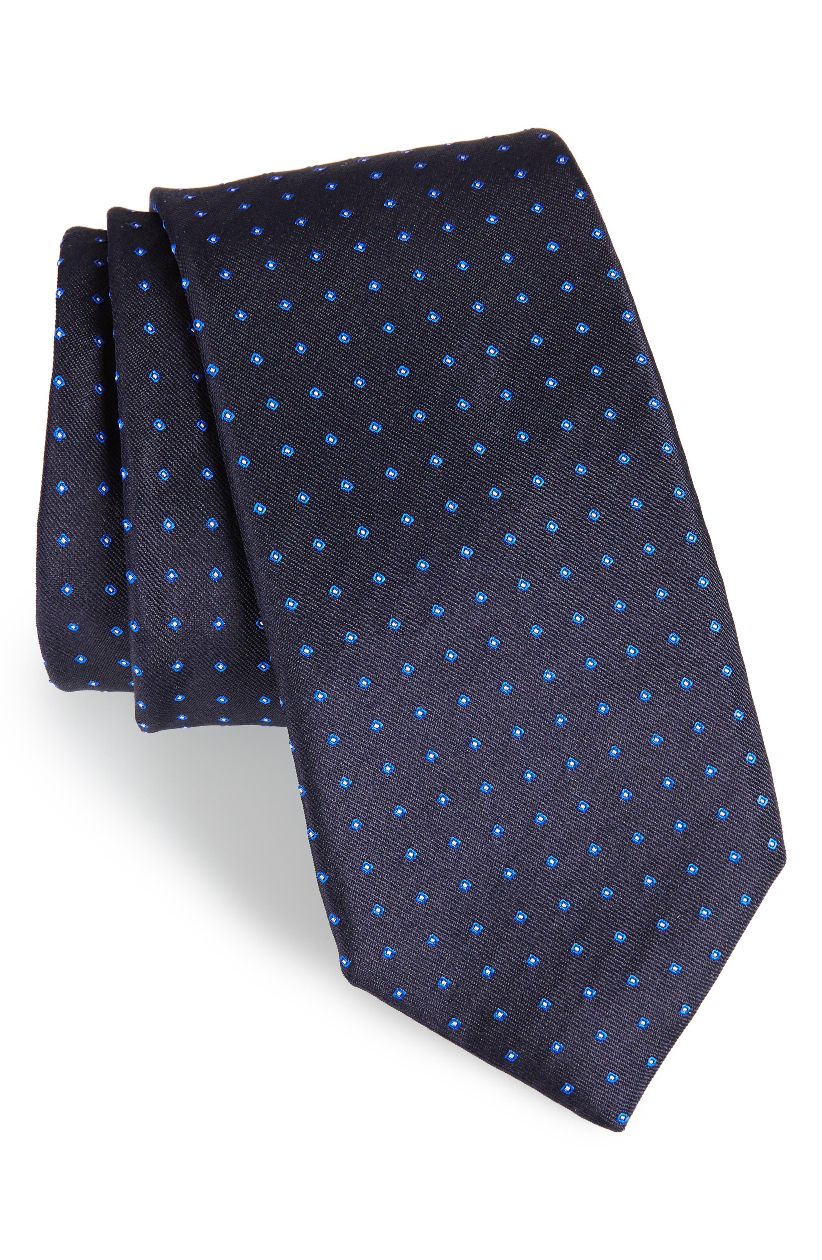 Dot Silk Tie,                             Main thumbnail 1, color,